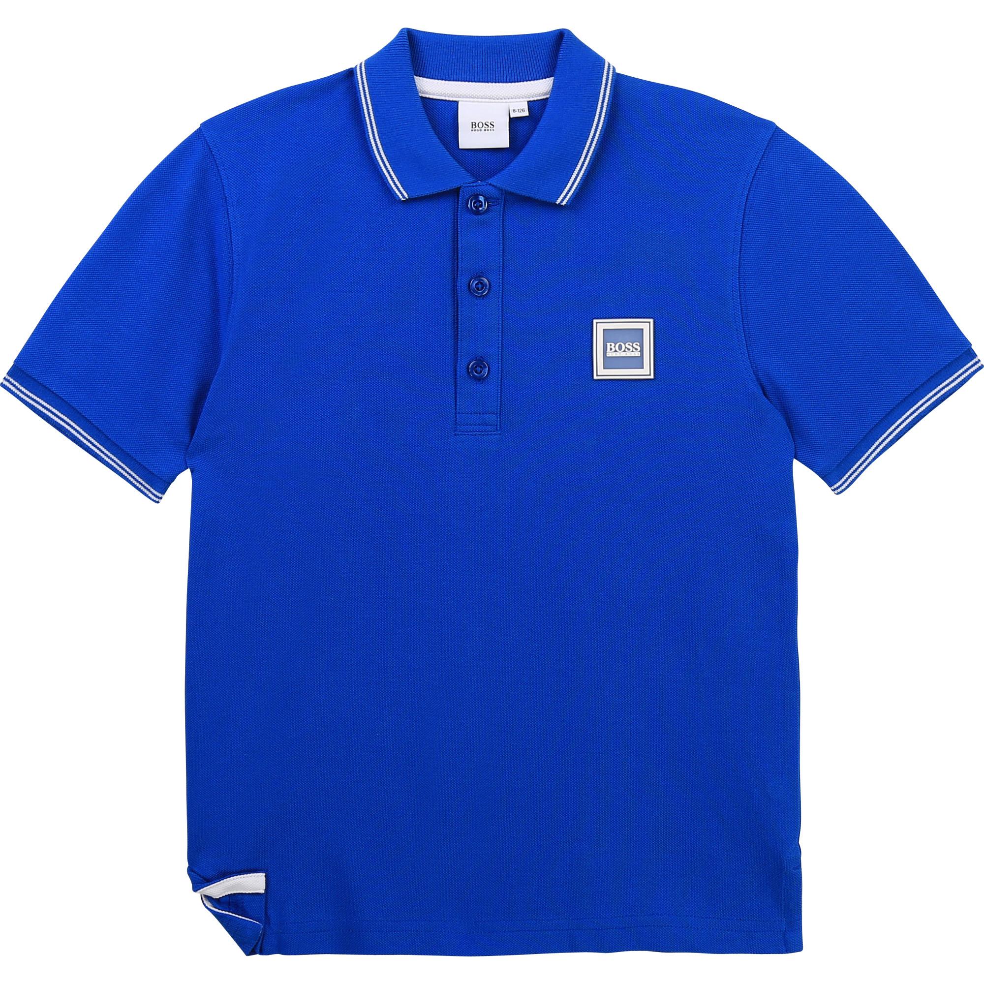 Short-sleeved polo shirt BOSS for BOY