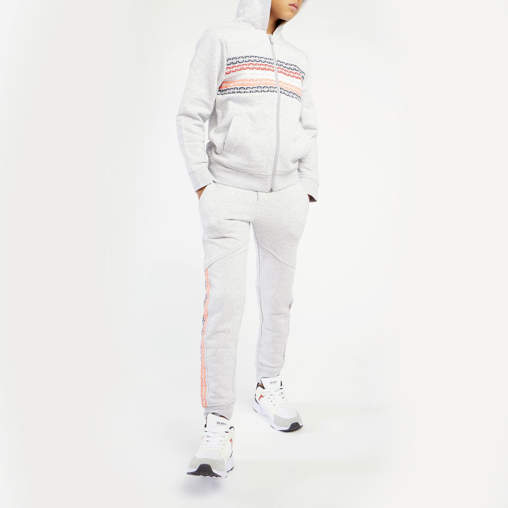 Hooded jogging cardigan BOSS for BOY