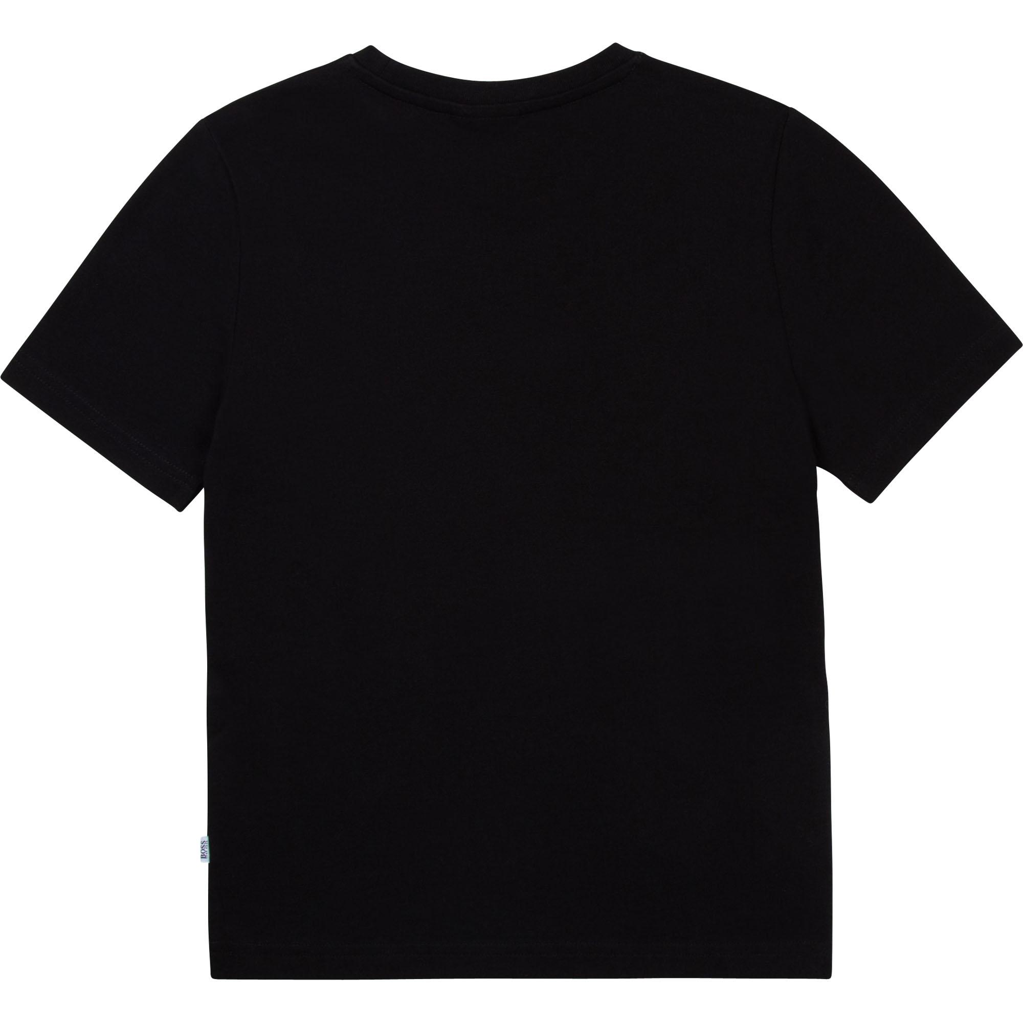 Camiseta de algodón estampada BOSS para NIÑO