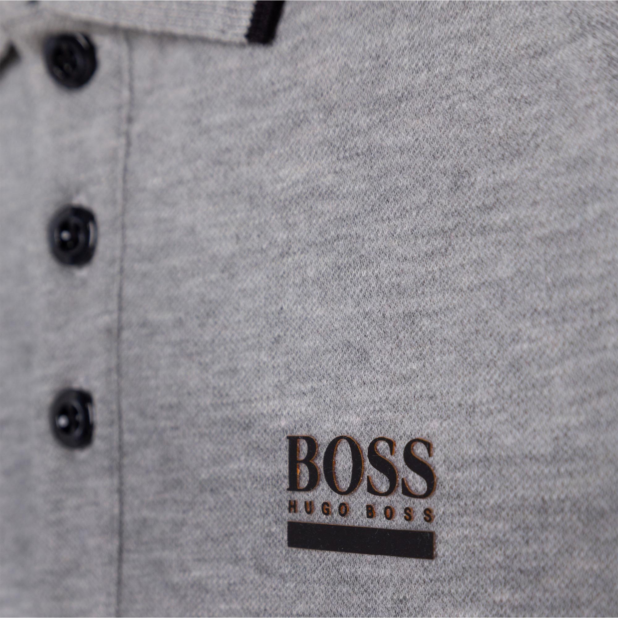 Cotton piqué polo BOSS for BOY