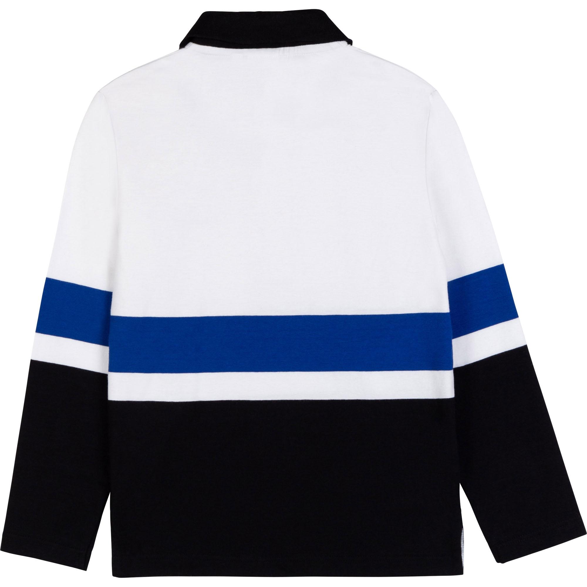 Striped cotton polo BOSS for BOY