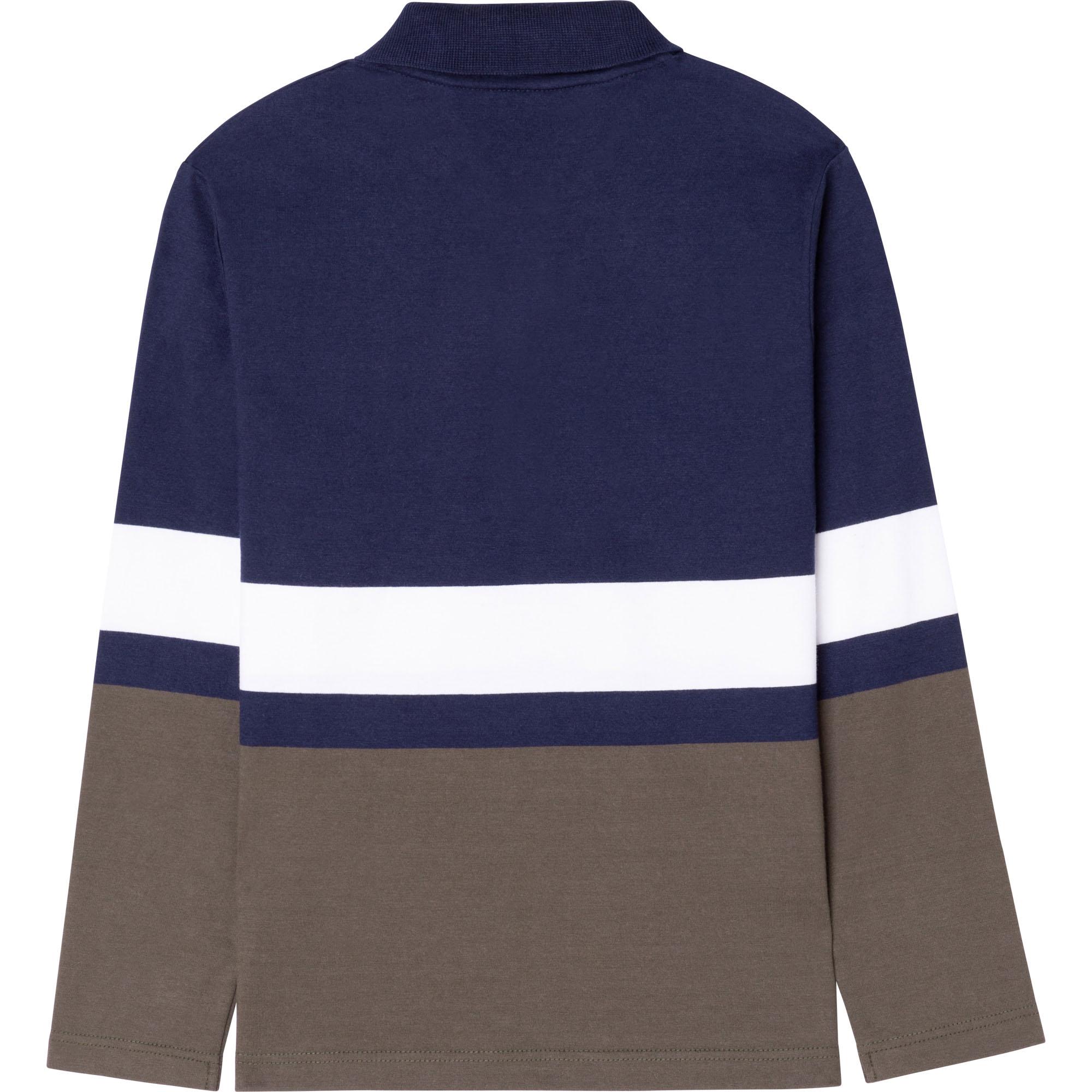 Polo en coton à rayures BOSS pour GARCON