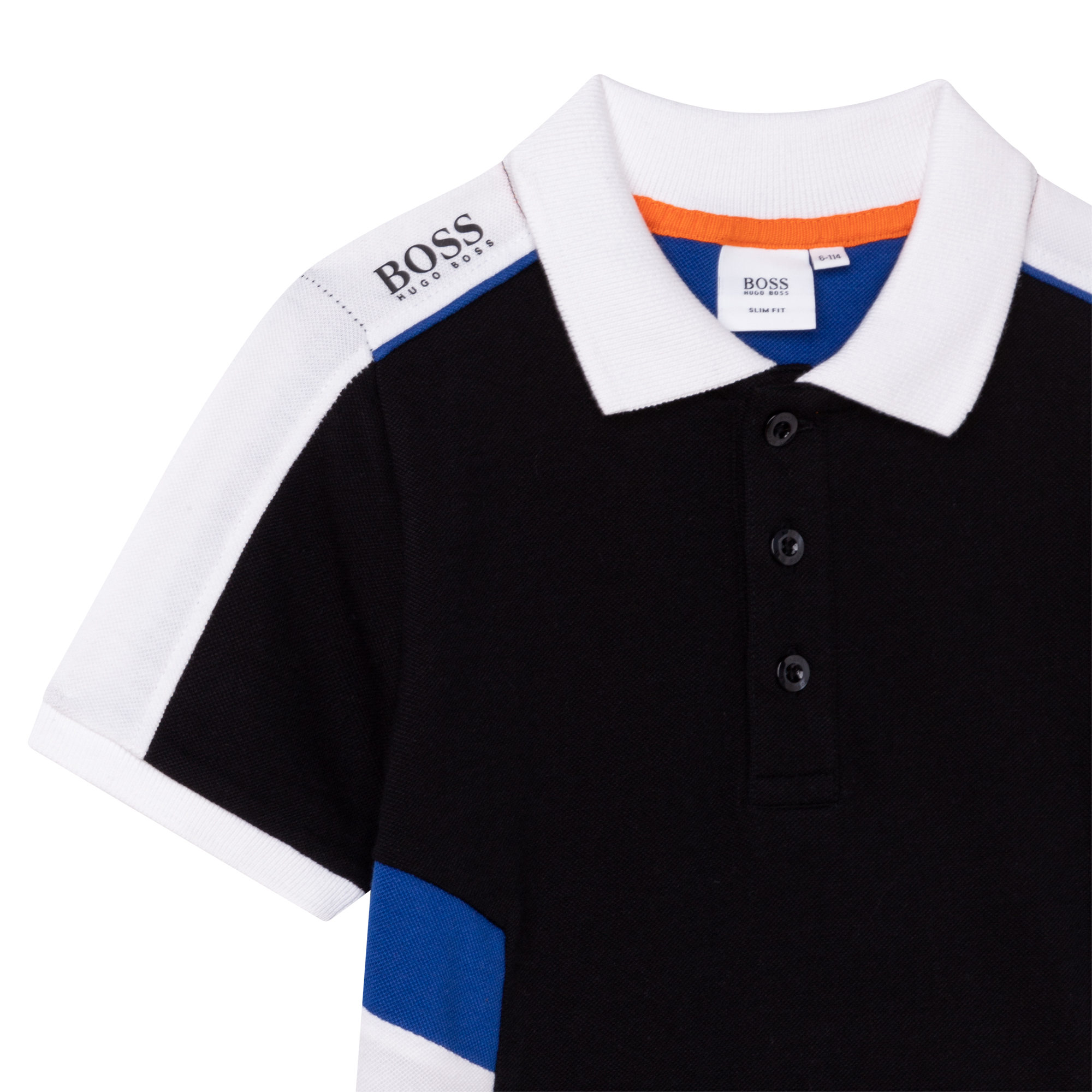 Polo with panels BOSS for BOY