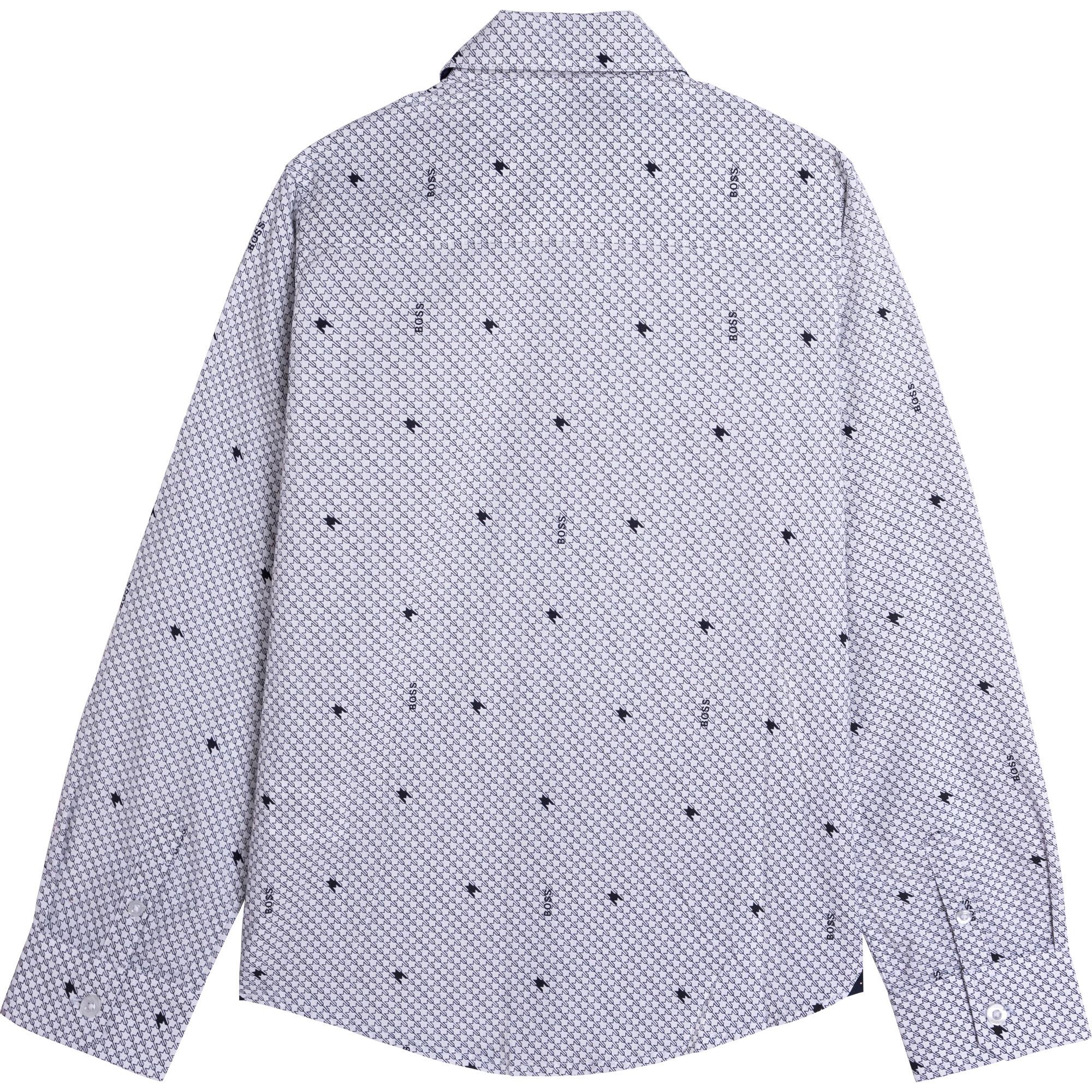 Printed cotton shirt BOSS for BOY