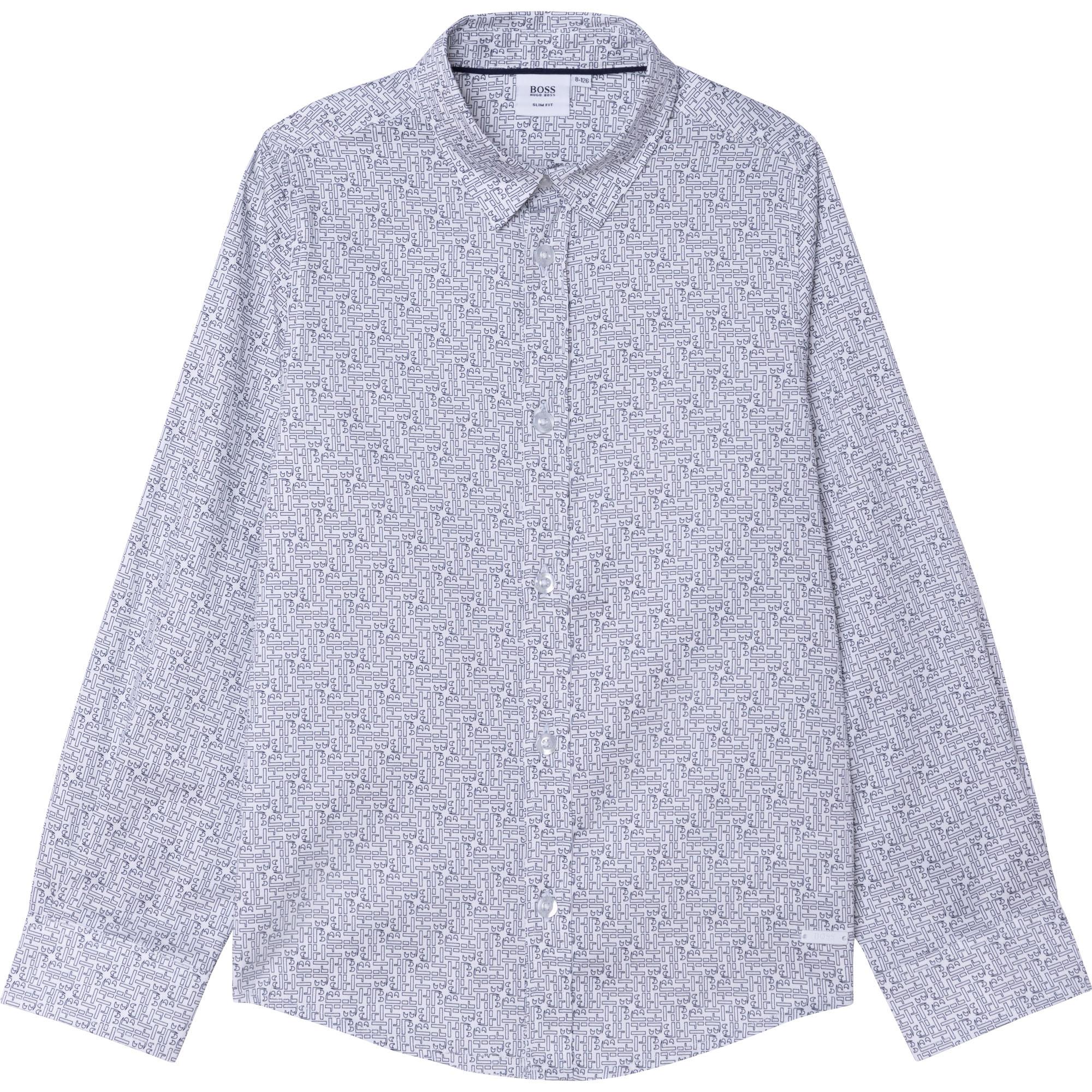 Cotton satin shirt BOSS for BOY