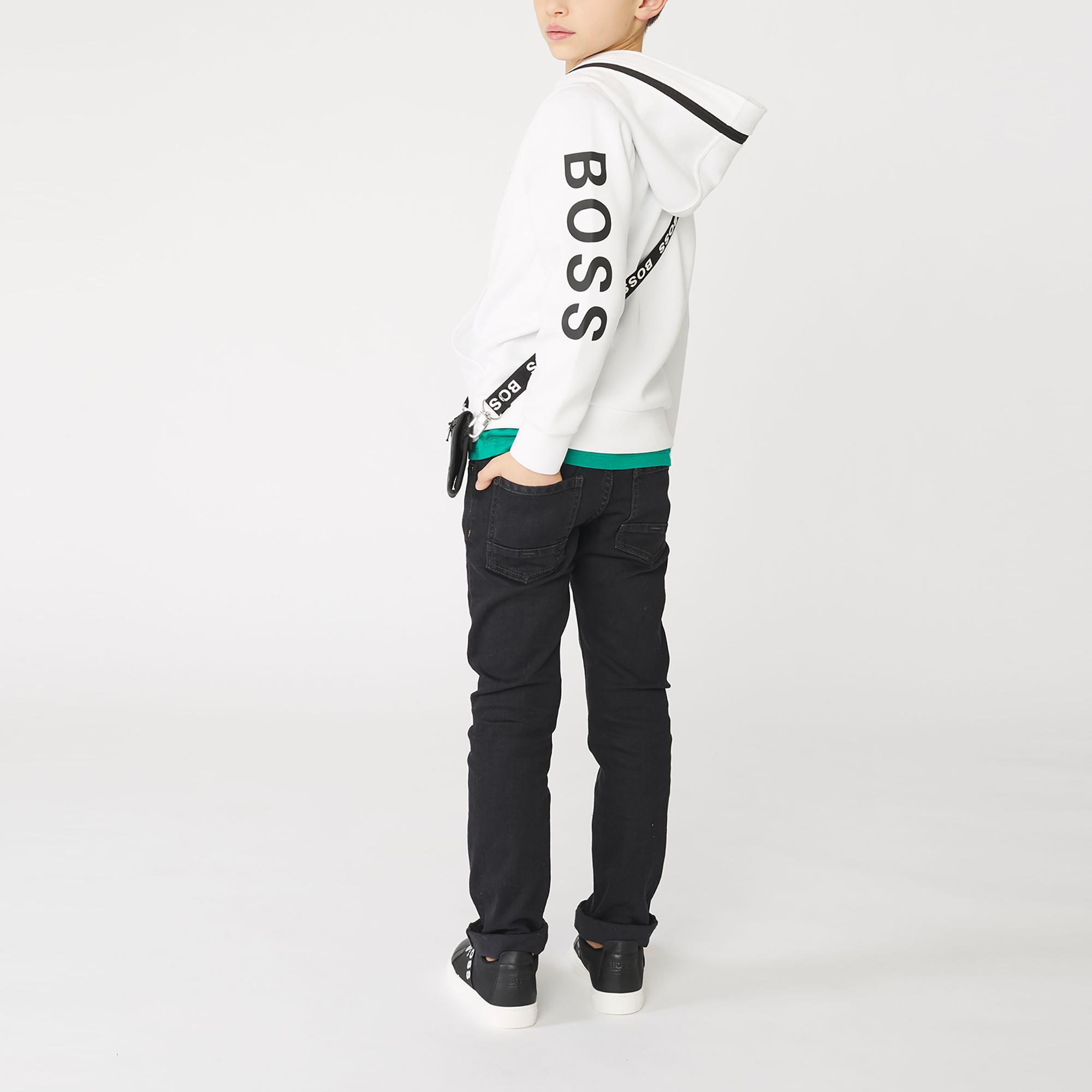 Sweatshirt with zipped double hood BOSS for BOY