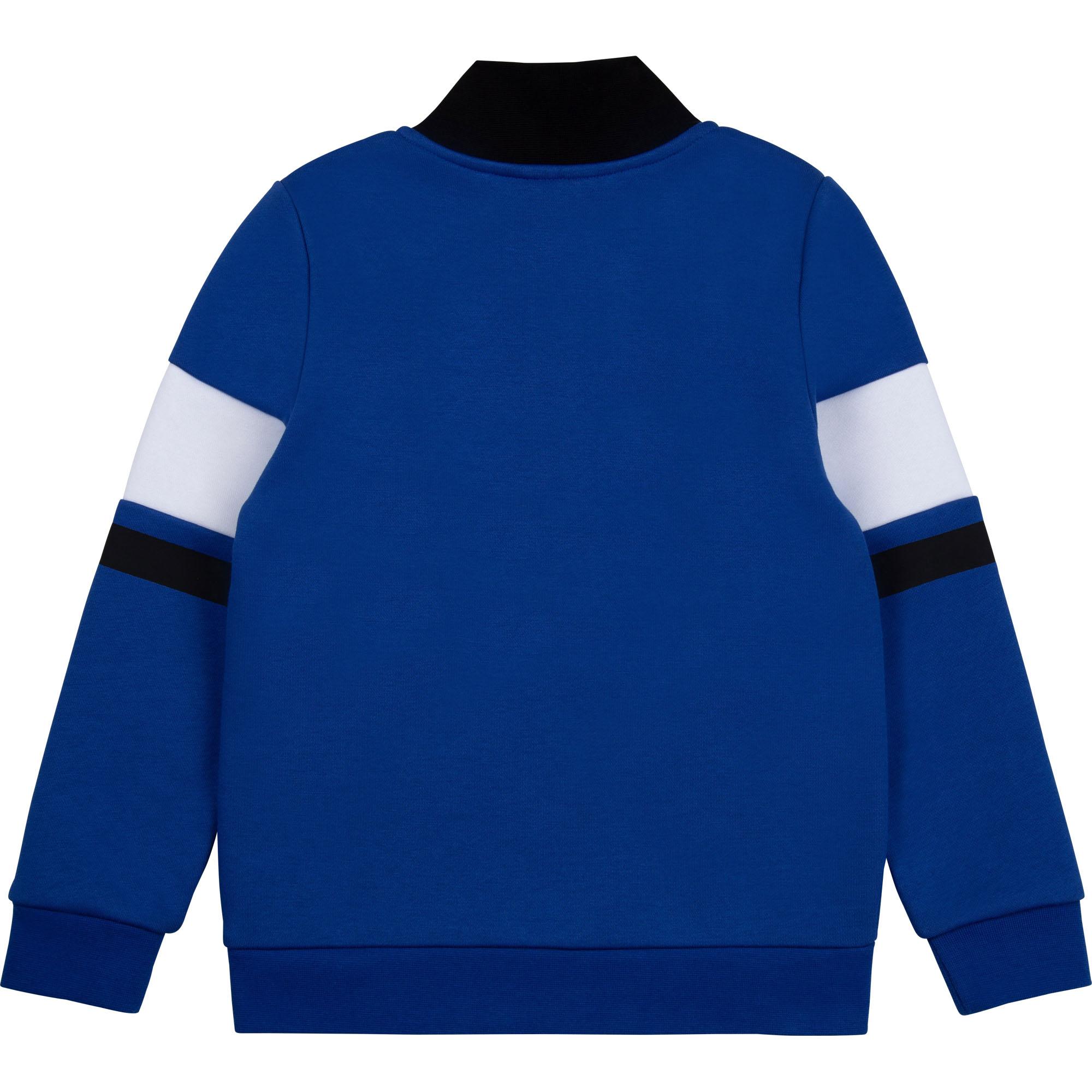 Fleece sweatshirt with zipped collar BOSS for BOY
