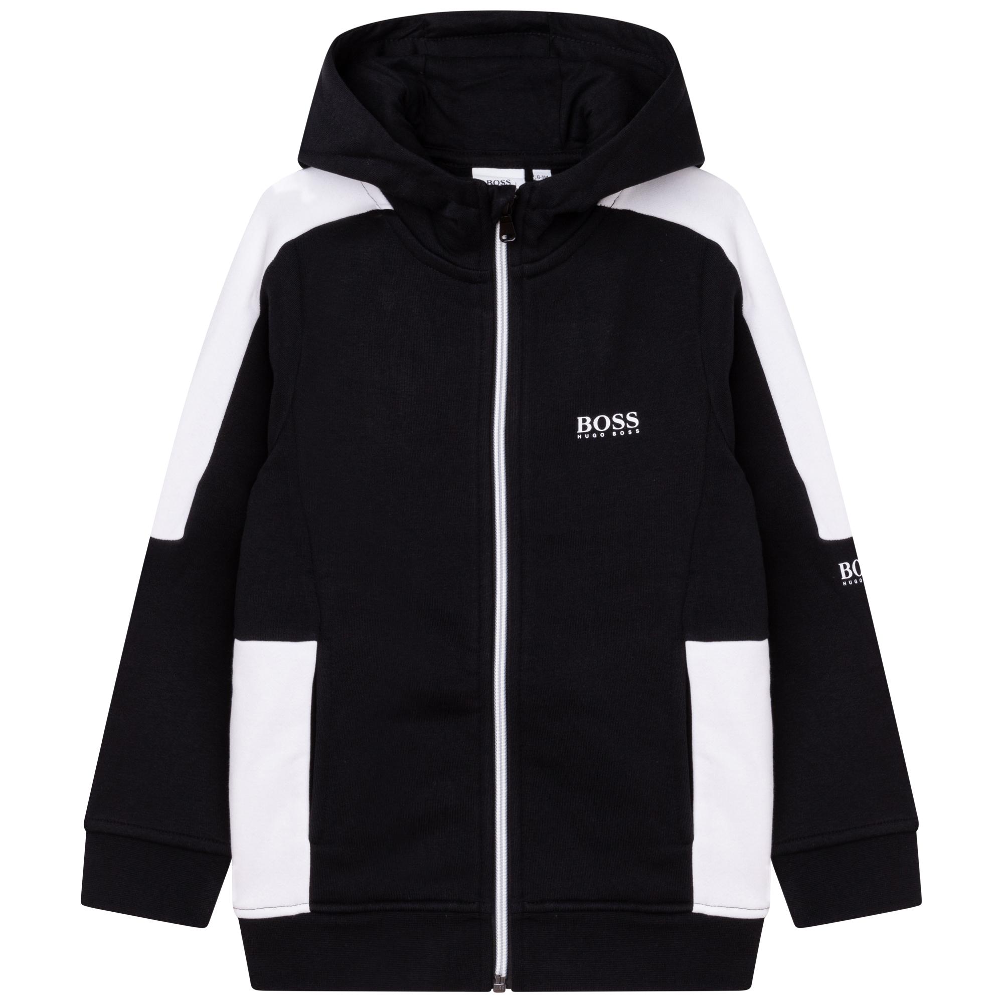 Zipped hooded cardigan BOSS for BOY