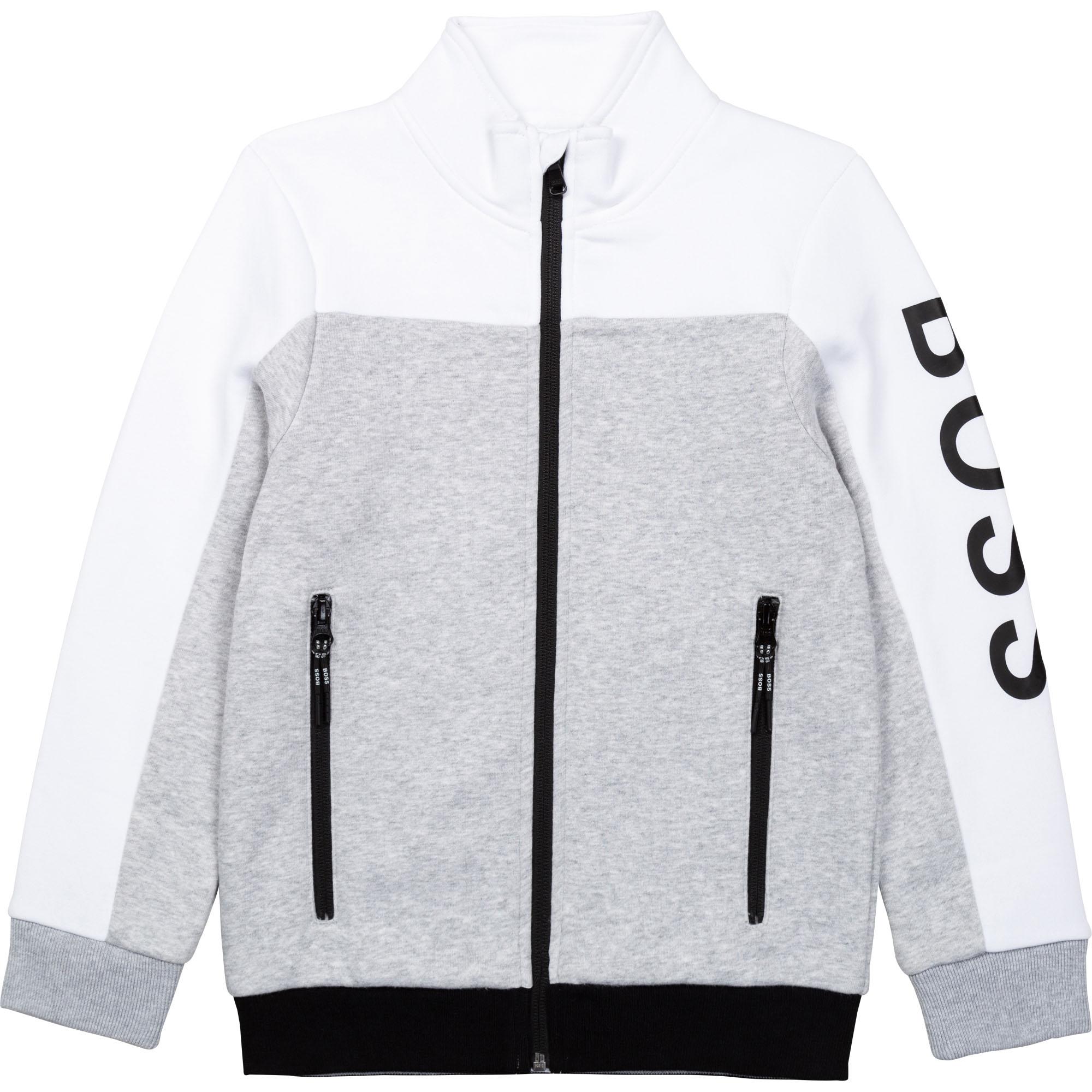 Organic cotton zipped cardigan BOSS for BOY