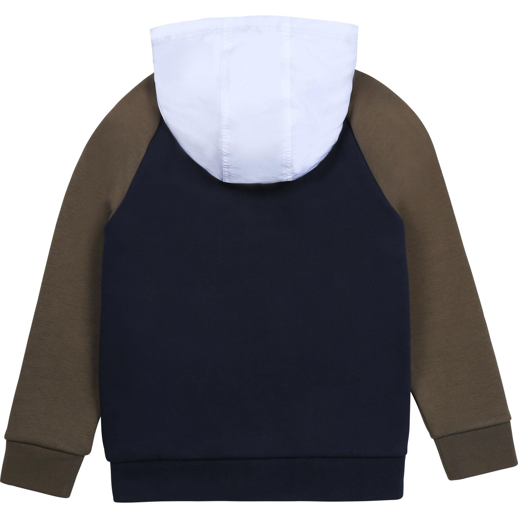 Hooded fleece cardigan BOSS for BOY