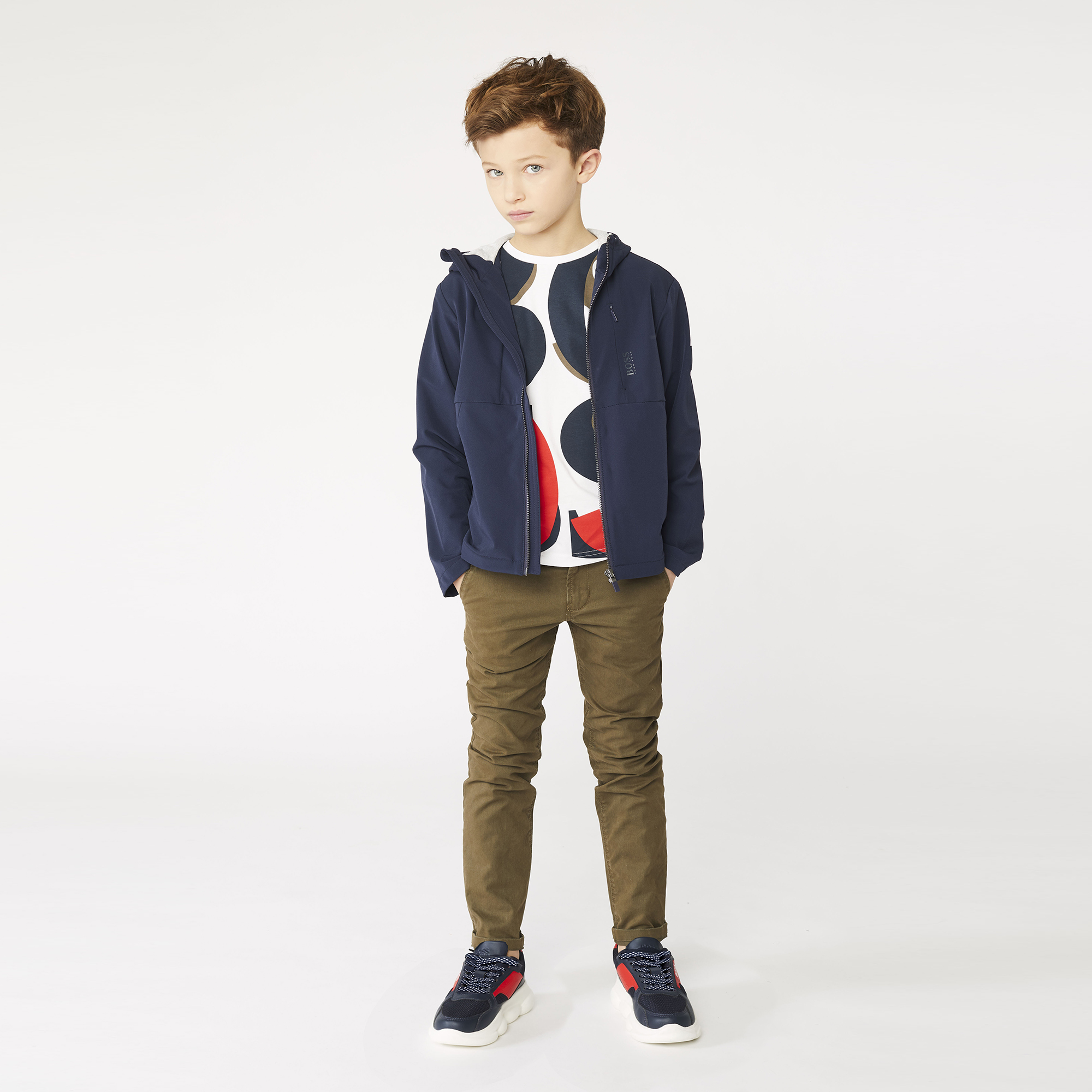 Jersey-lined cardigan BOSS for BOY