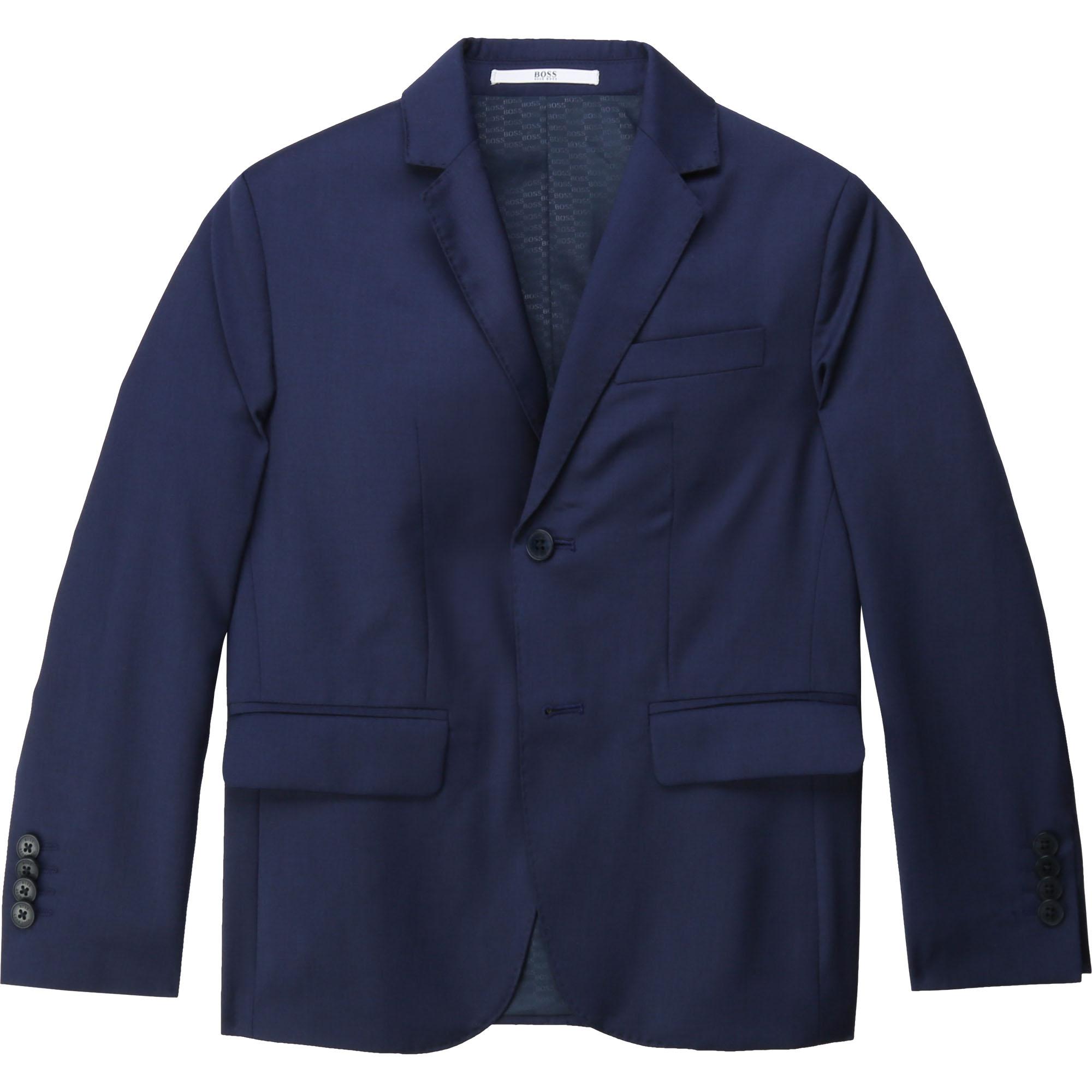 Veste de costume en laine BOSS pour GARCON