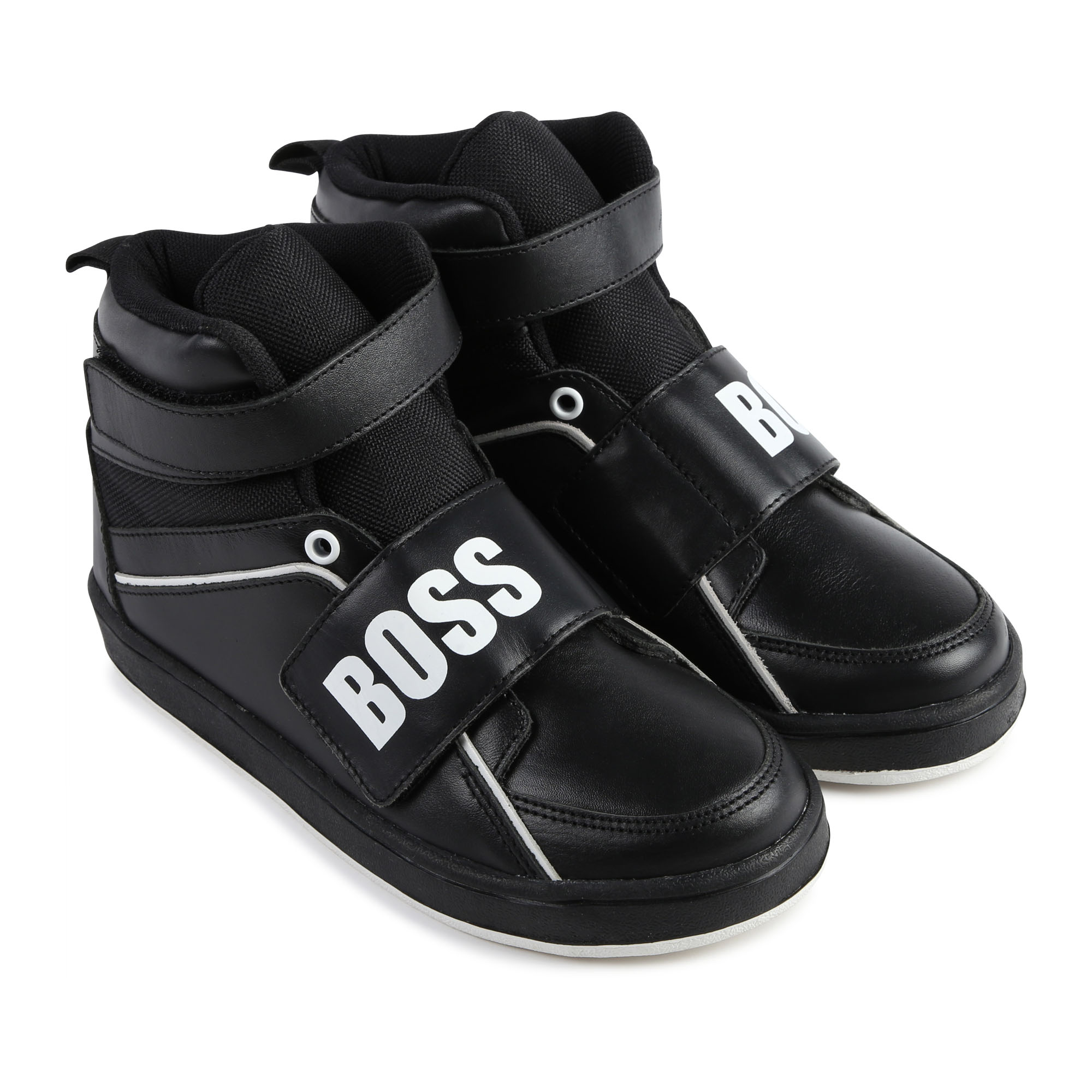 Leather high-top trainers BOSS for BOY