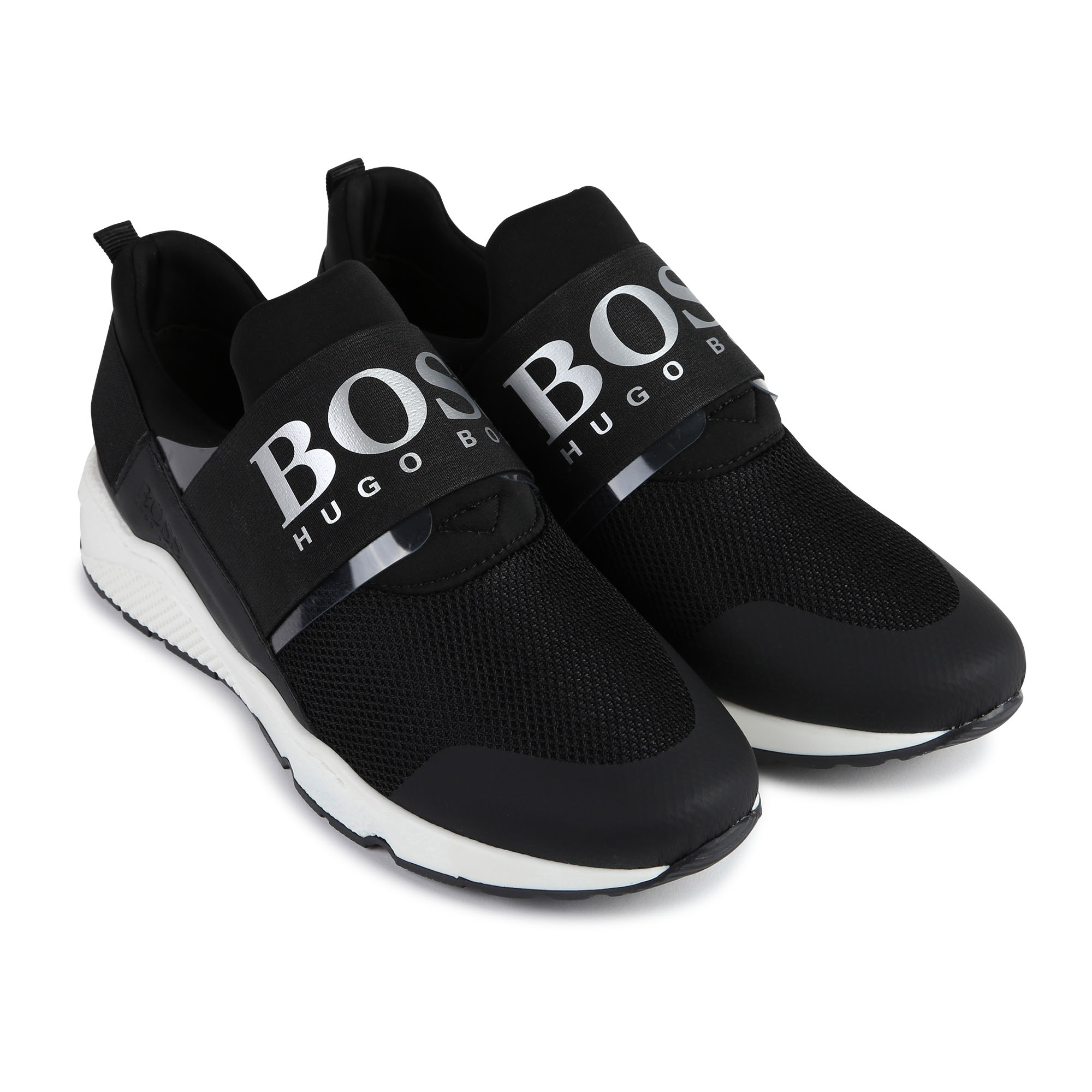 Elasticated jacquard trainers BOSS for BOY