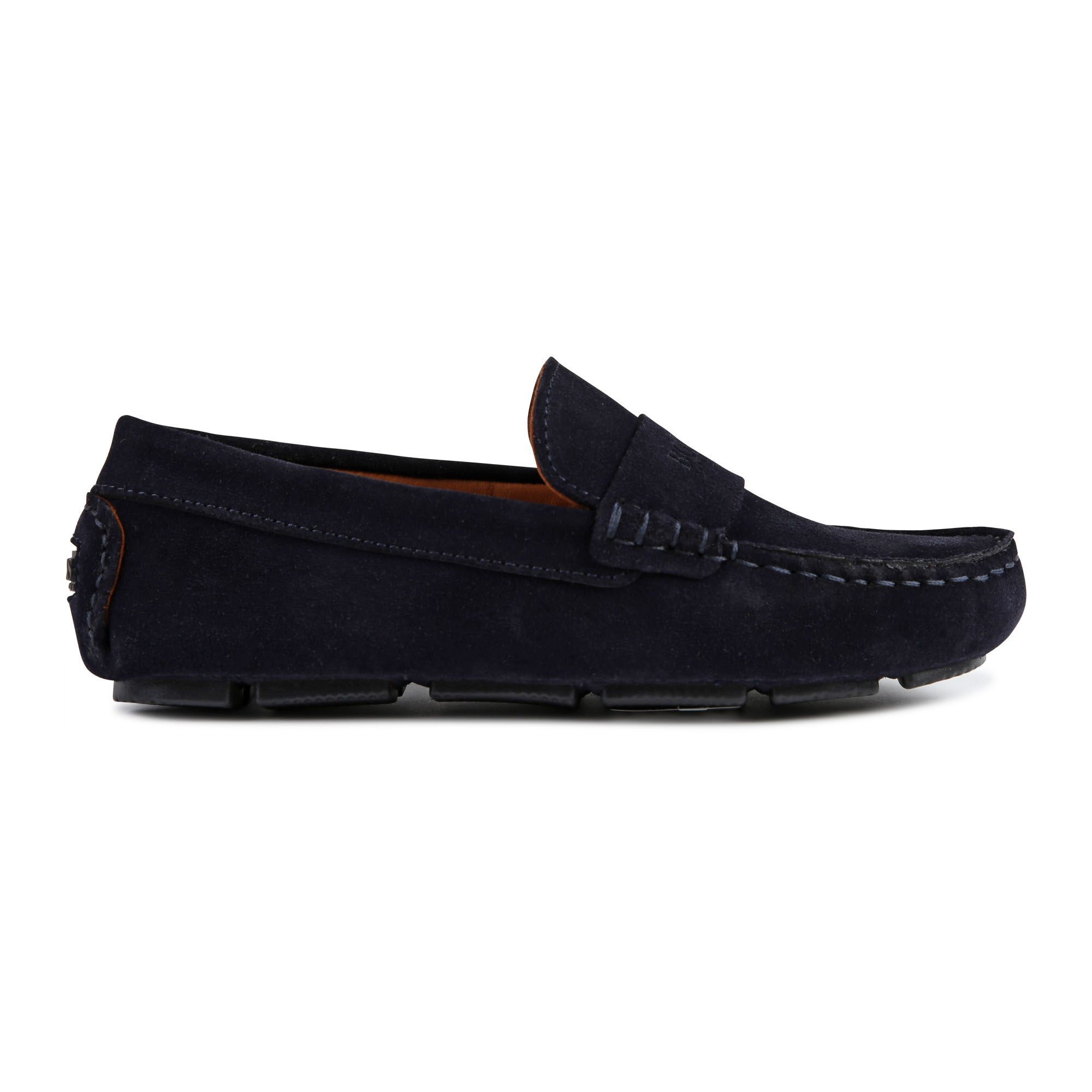 Plain leather loafers BOSS for BOY