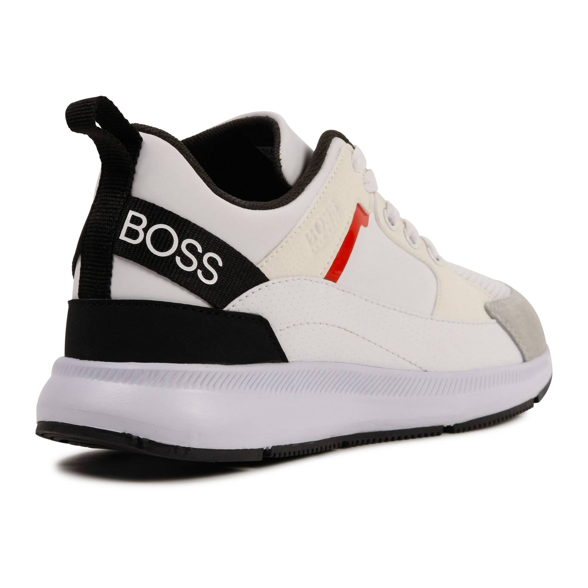 Leather and pleather sneakers BOSS for BOY