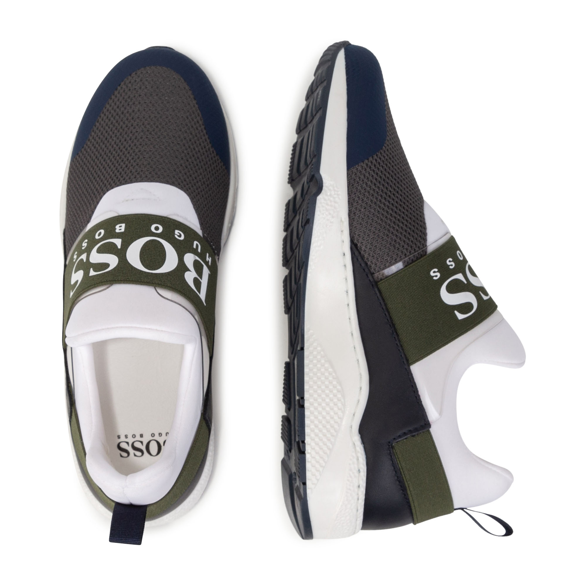 Mixed-material lace-up sneakers BOSS for BOY
