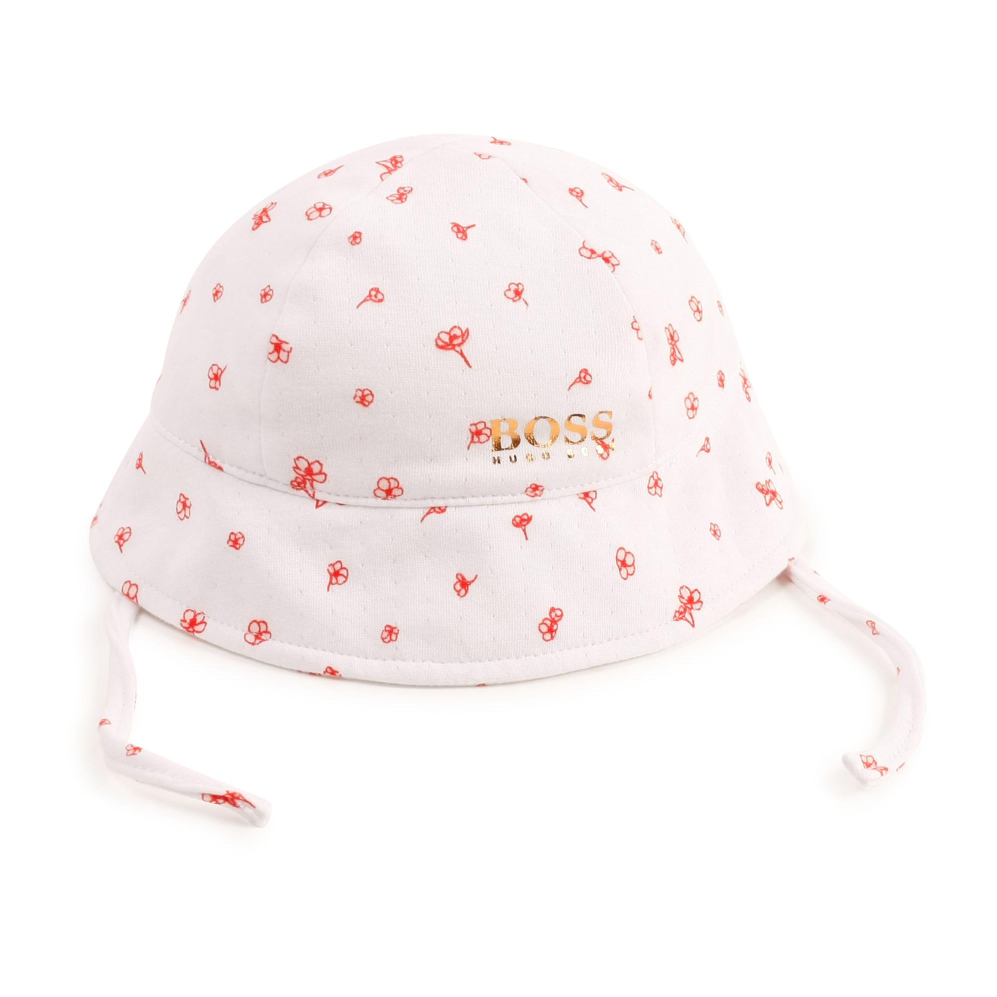 Chapeau imprimé en coton BOSS pour FILLE