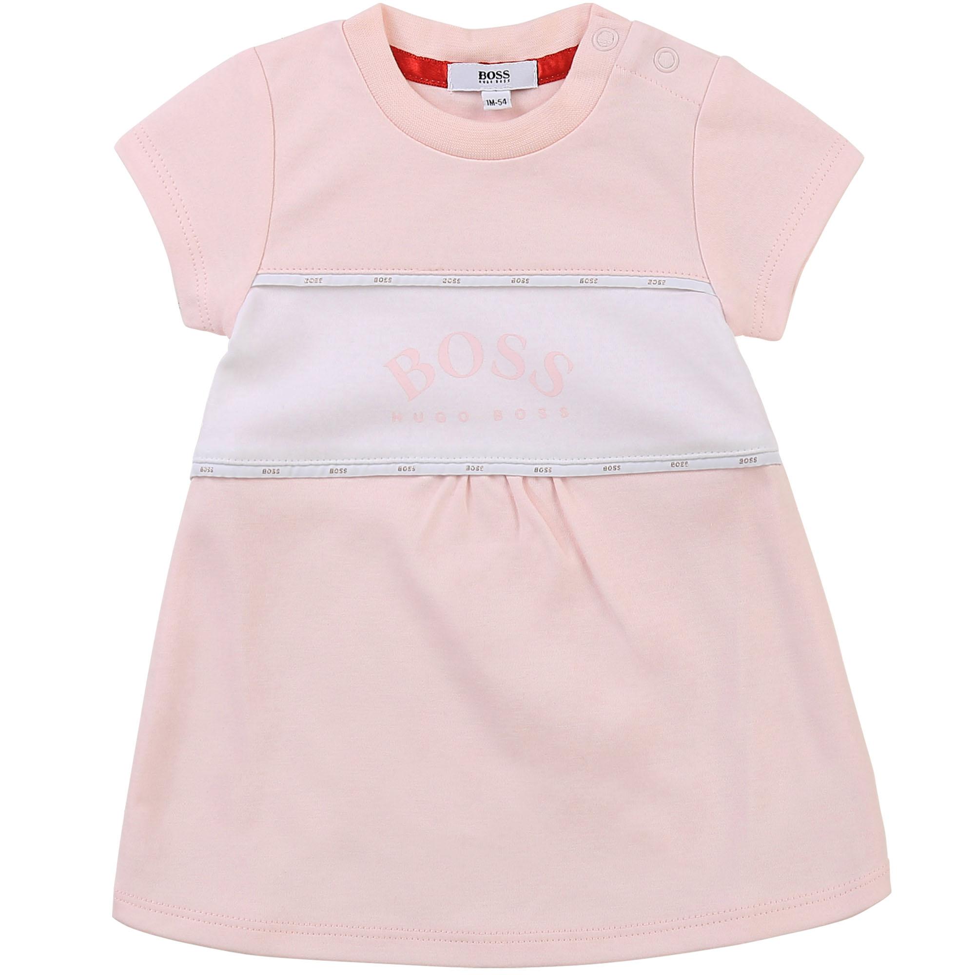 Cotton interlock dress BOSS for GIRL