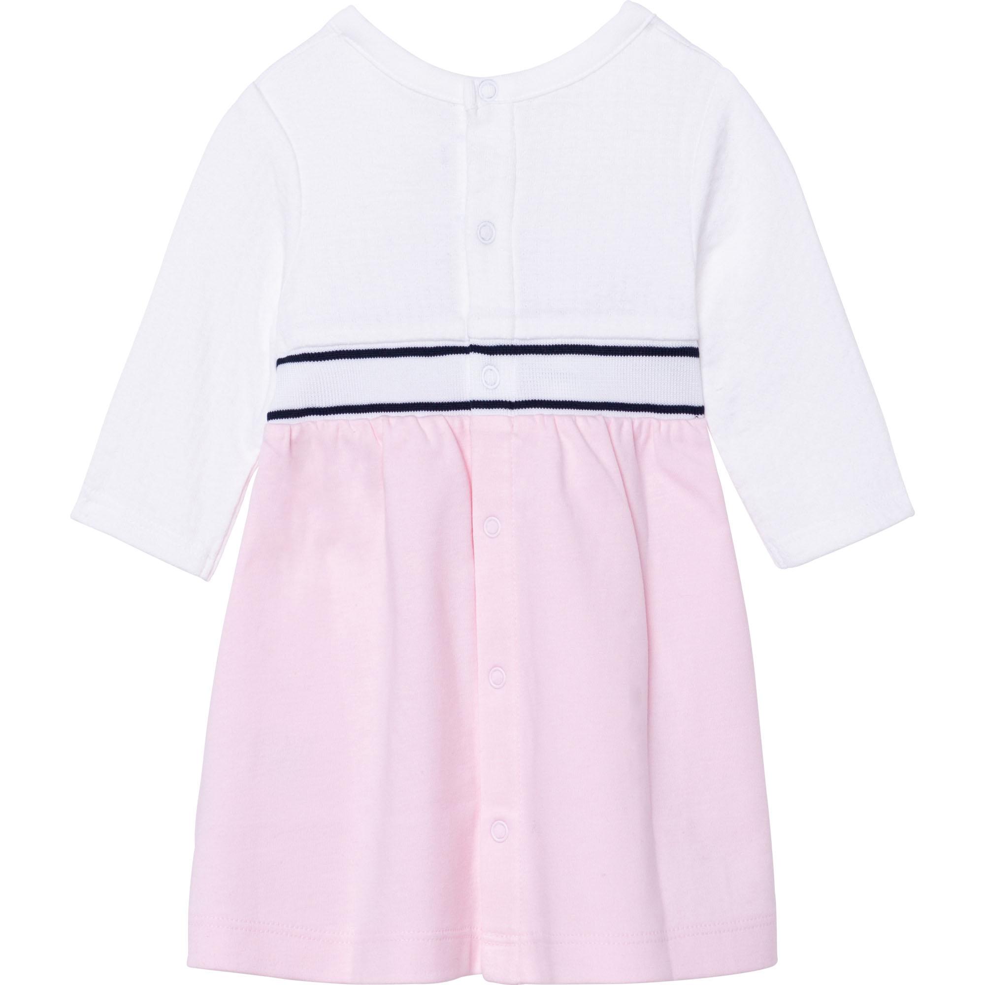 Long-sleeved cotton dress BOSS for GIRL