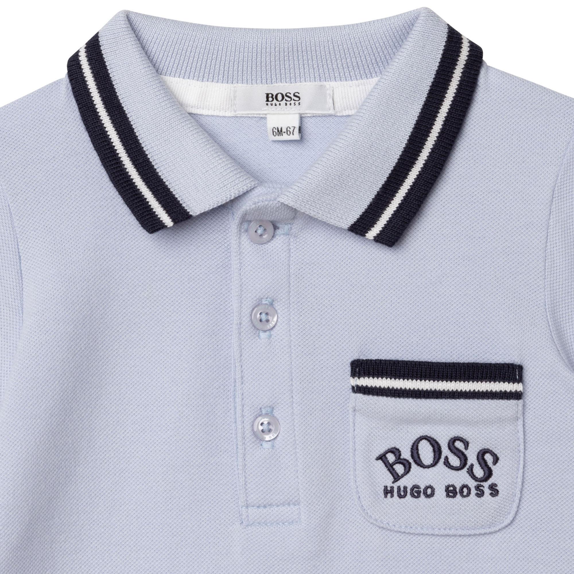 Polo-style short romper BOSS for BOY