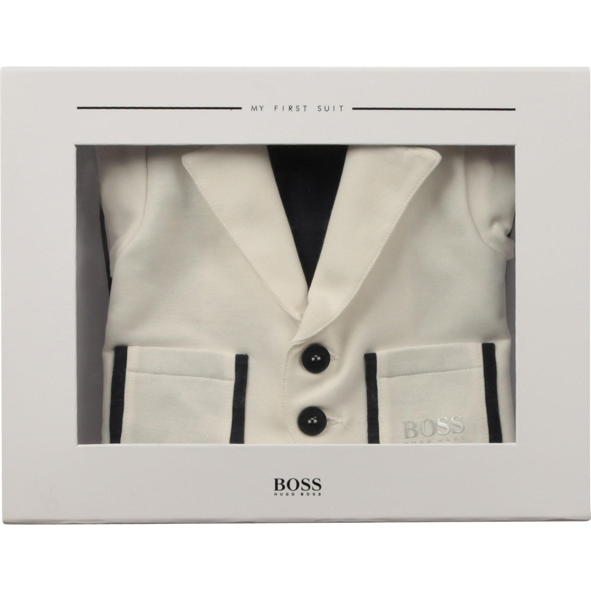 Milano suit-inspired romper BOSS for BOY