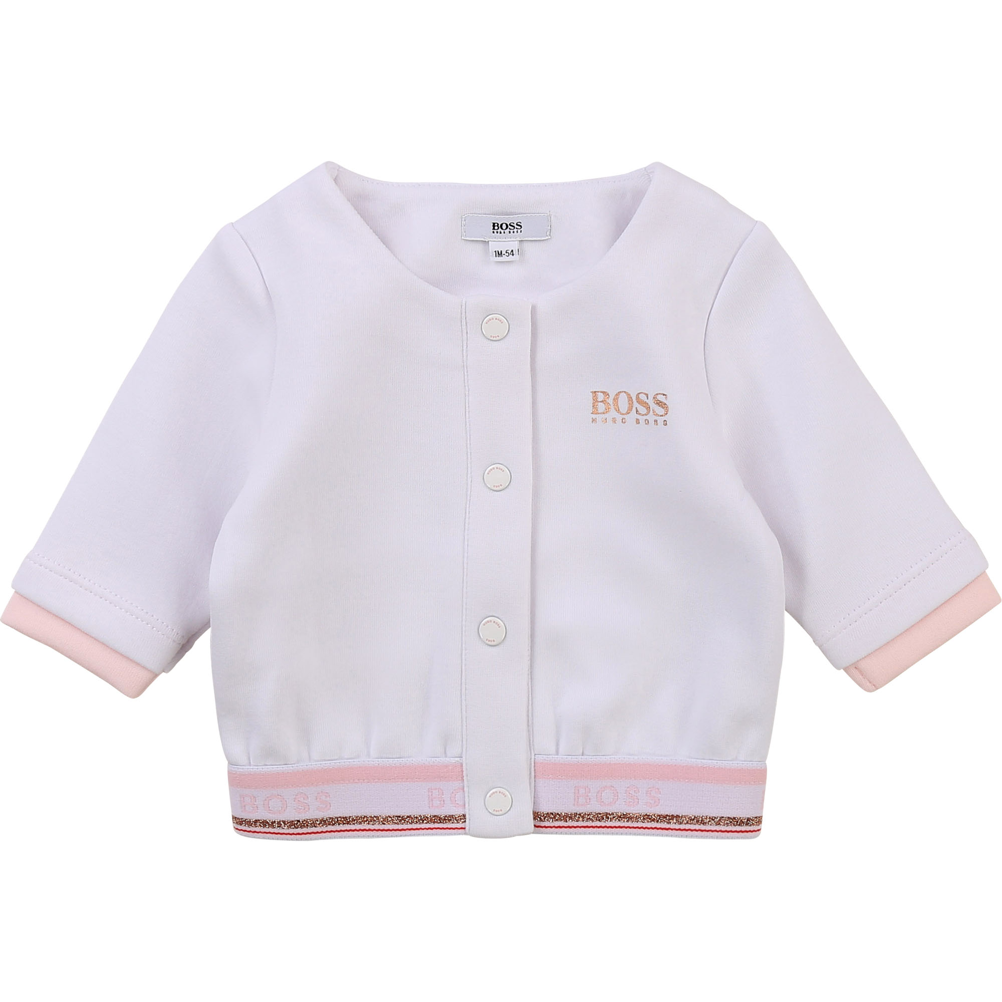 Cardigan à boutons-pression BOSS BEBE COUCHE FILLE