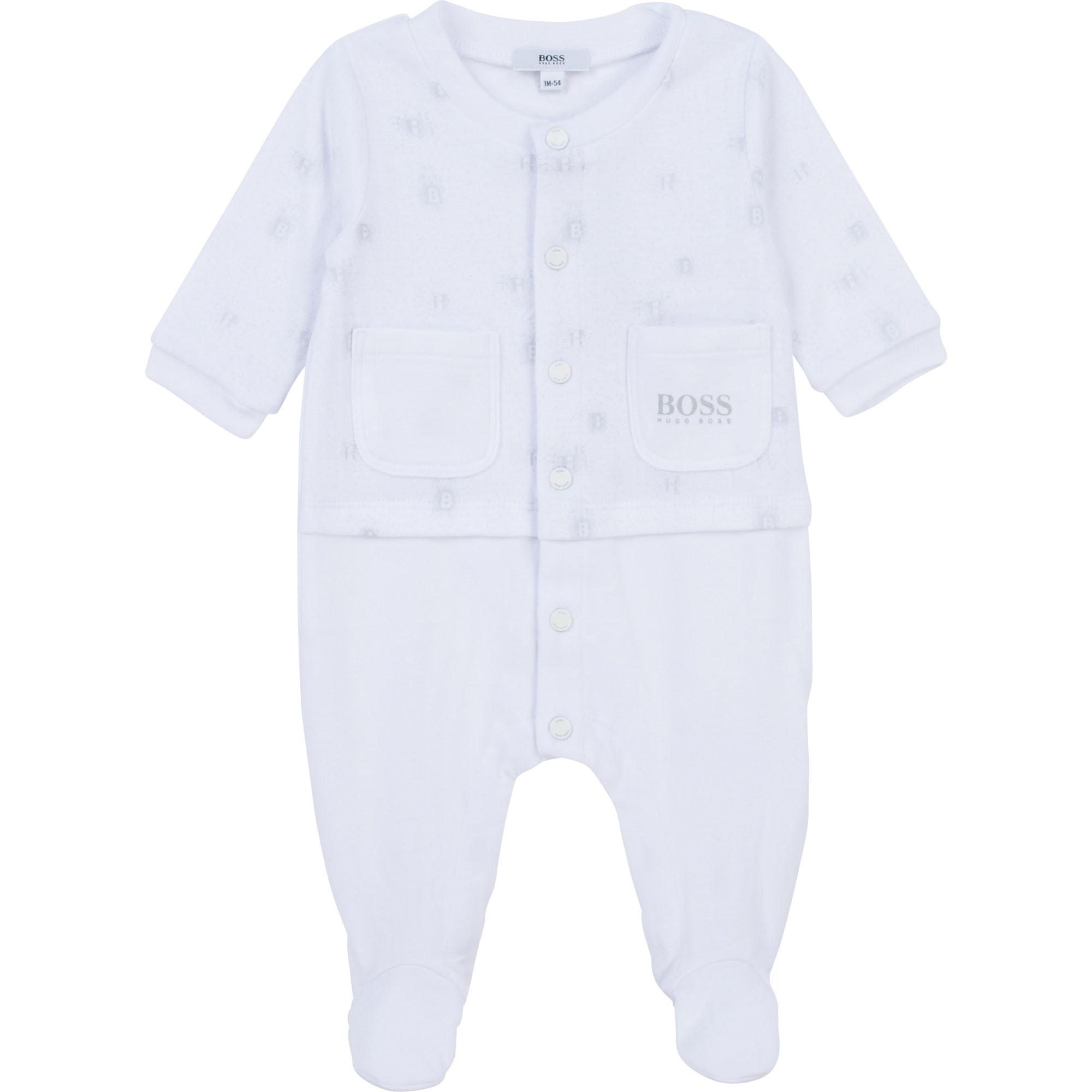 Pyjama en coton avec imprimé BOSS pour UNISEXE