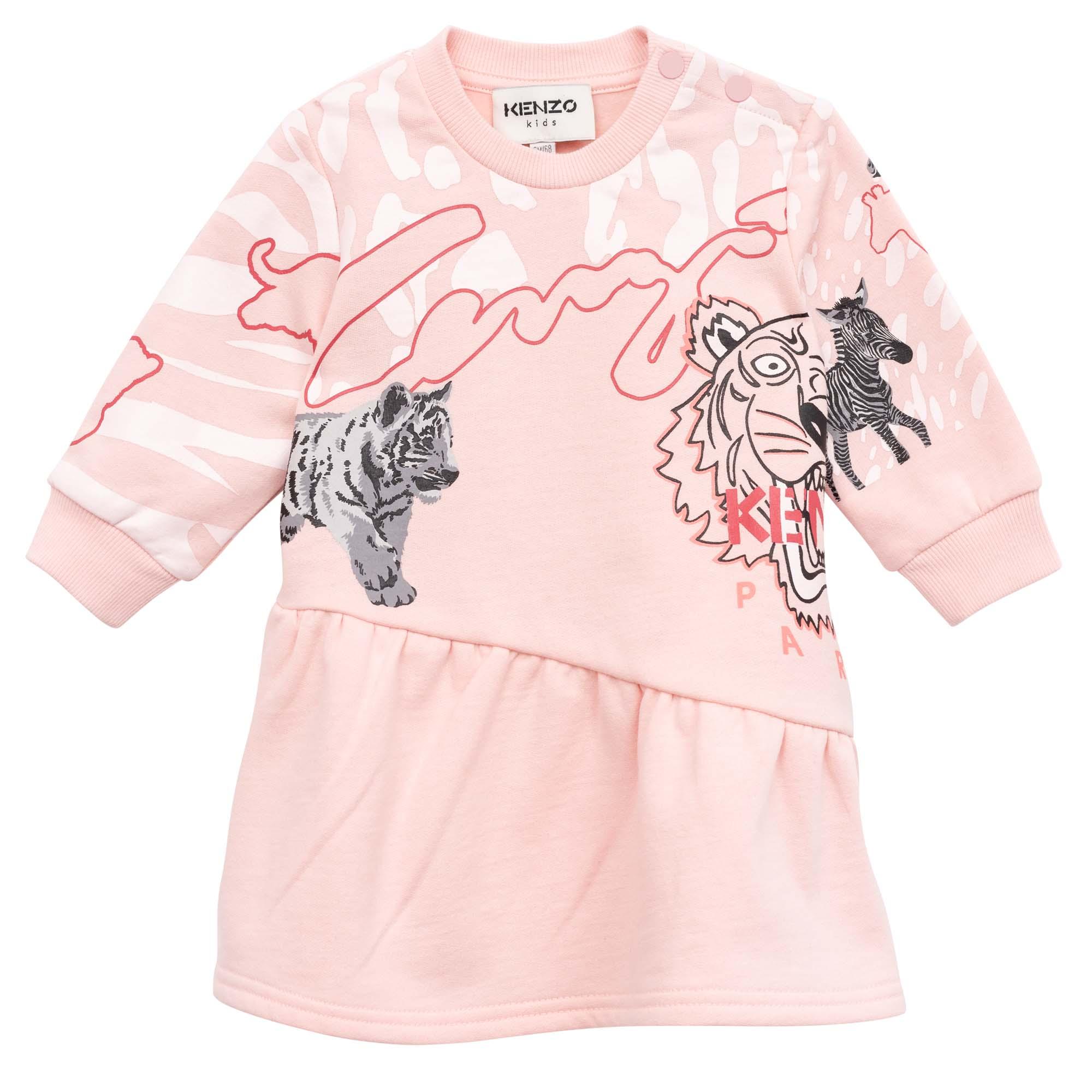 Asymmetric fleece dress KENZO KIDS for GIRL