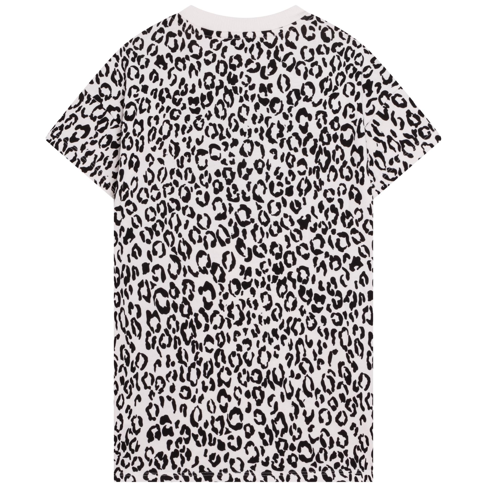 Organic jersey T-shirt dress KENZO KIDS for GIRL