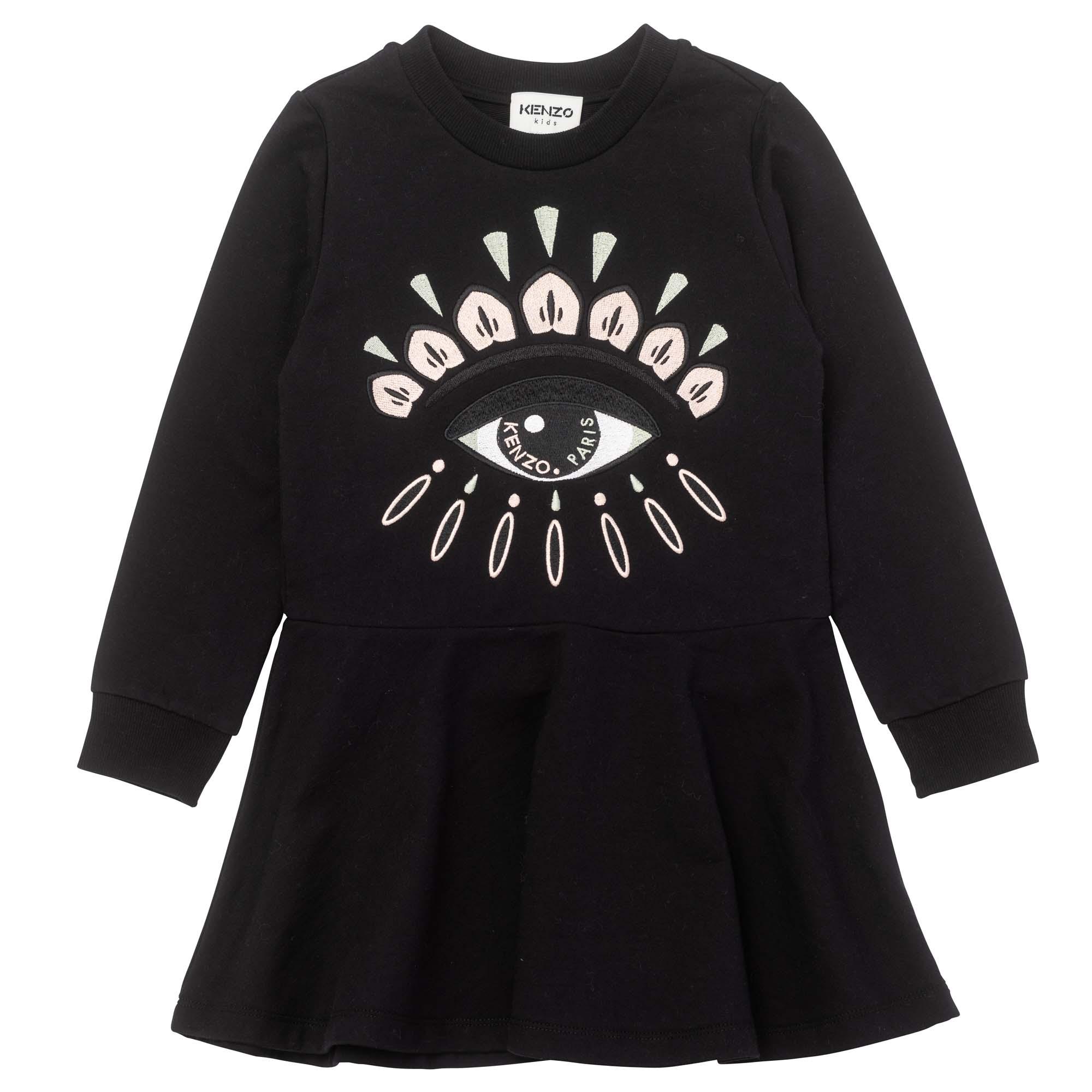 Flared fleece dress KENZO KIDS for GIRL