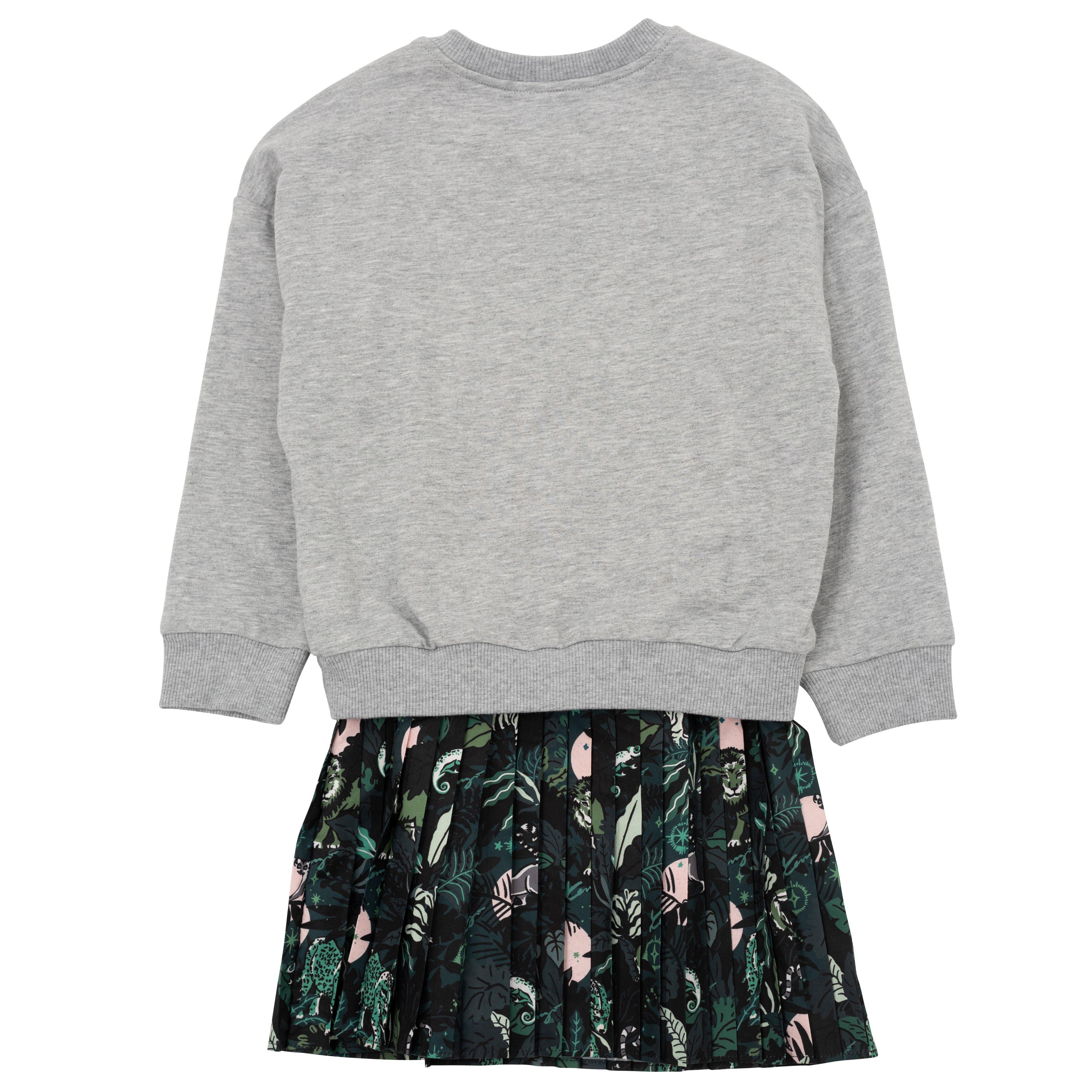 Dual-material dress and sweatshirt KENZO KIDS for GIRL