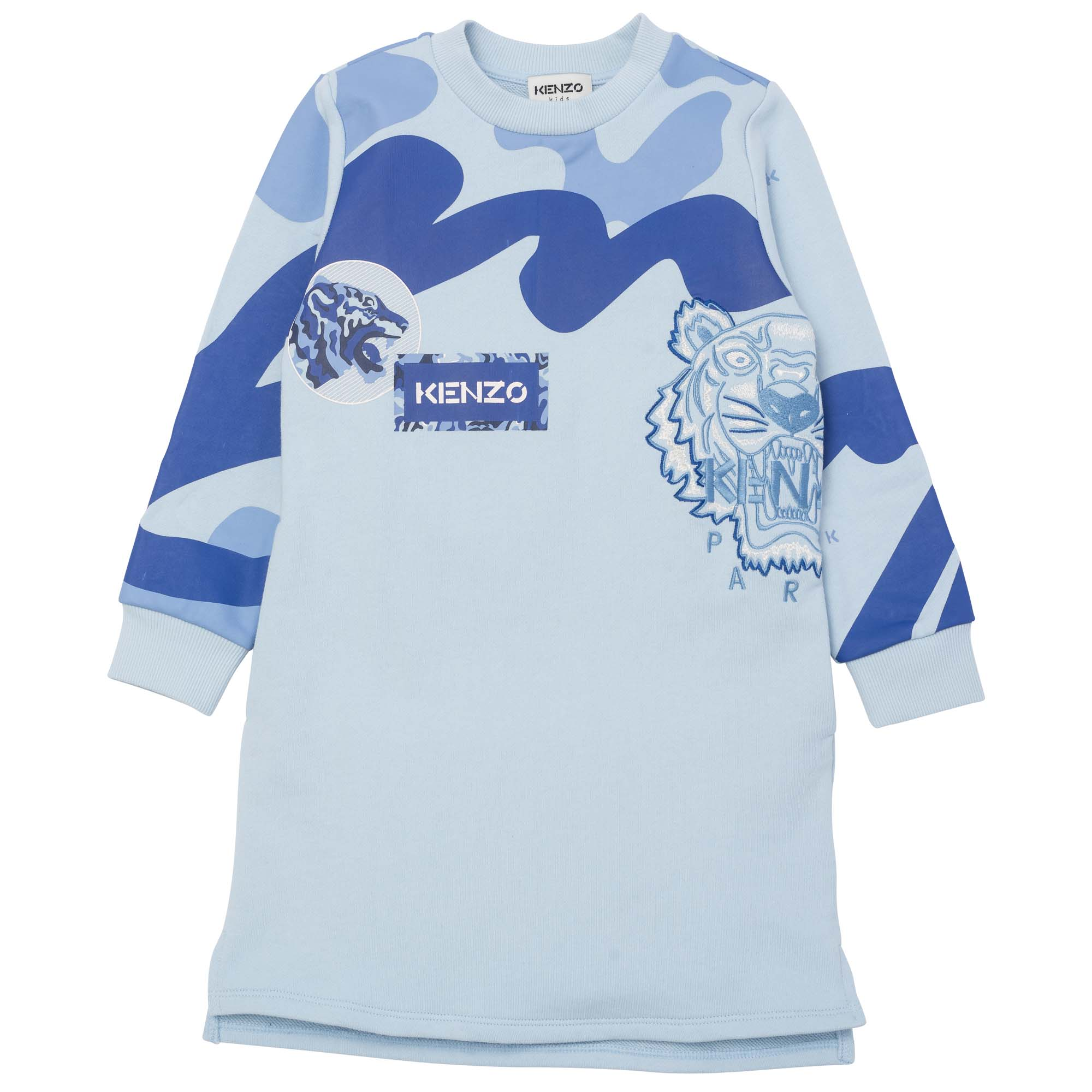 Cotton fleece sweatshirt dress KENZO KIDS for GIRL