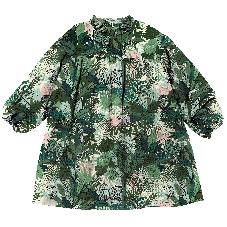 Long-sleeved printed dress KENZO KIDS for GIRL