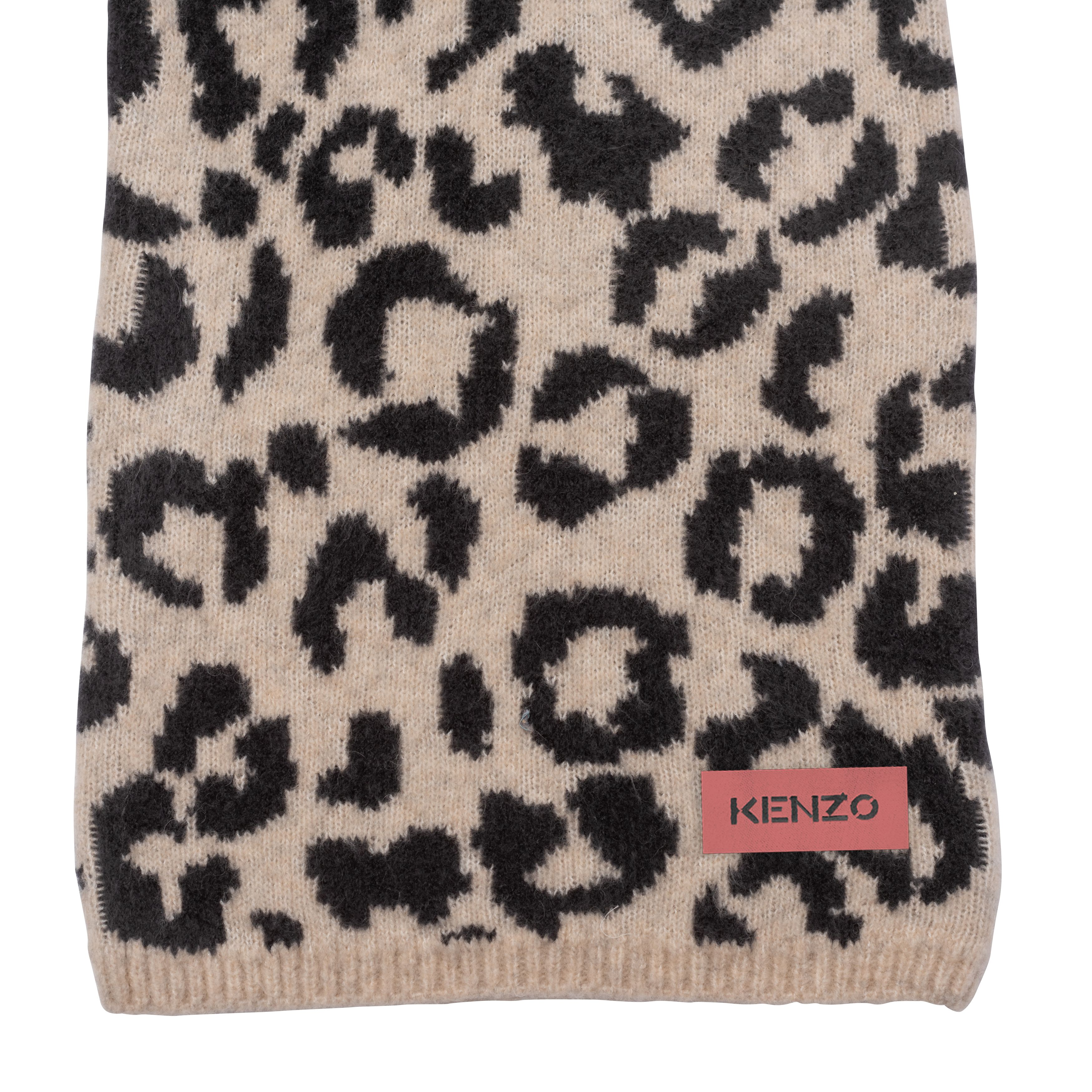 Wool-blend knit pants KENZO KIDS for GIRL