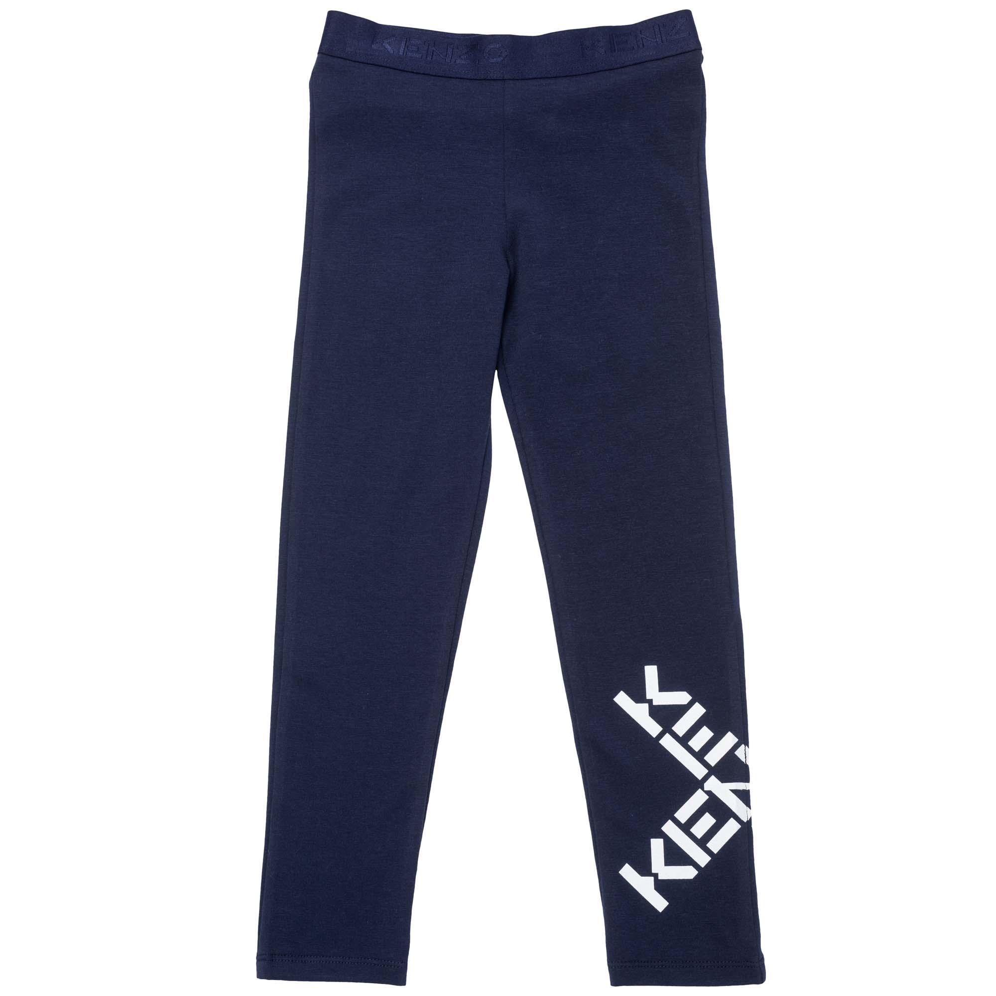 Stretch cotton leggings KENZO KIDS for GIRL