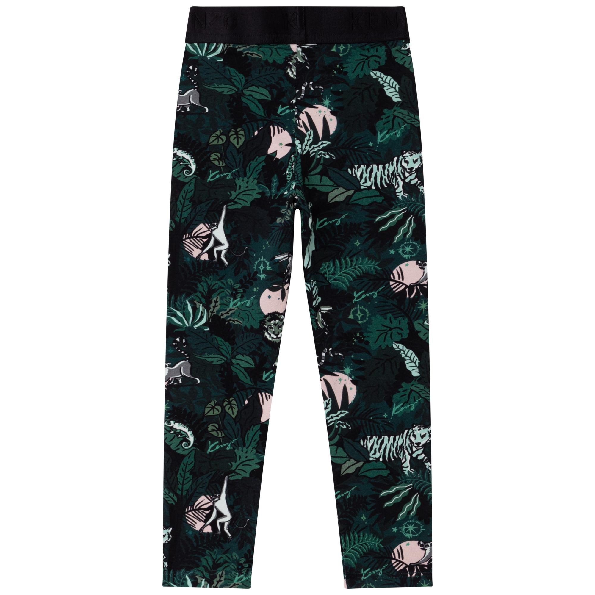 Printed cotton leggings KENZO KIDS for GIRL