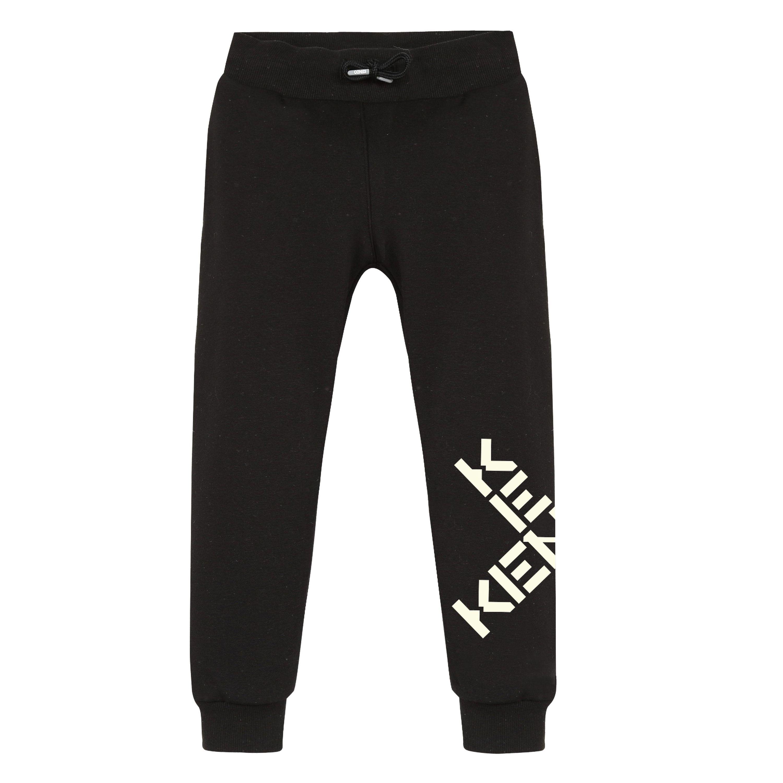 Pantalon de jogging en coton KENZO KIDS pour FILLE