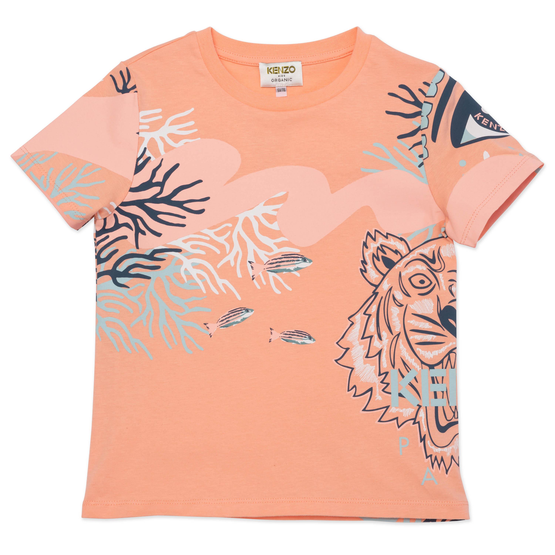 T-shirt à manches courtes en c KENZO KIDS pour FILLE