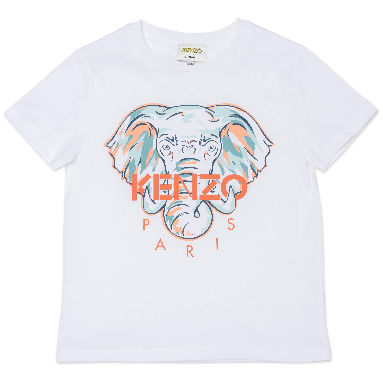 T-shirt en coton biologique KENZO KIDS pour FILLE