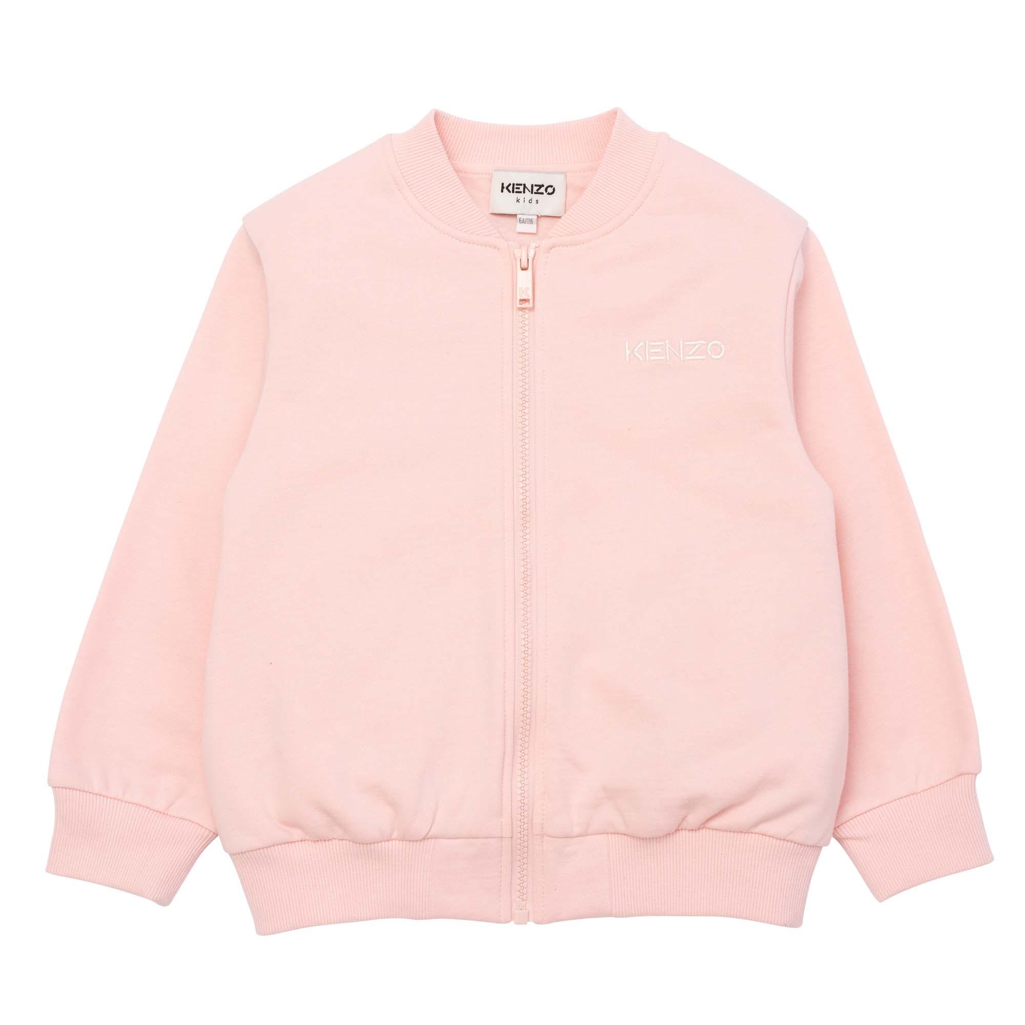 Brushed-fleece bomber jacket KENZO KIDS for GIRL