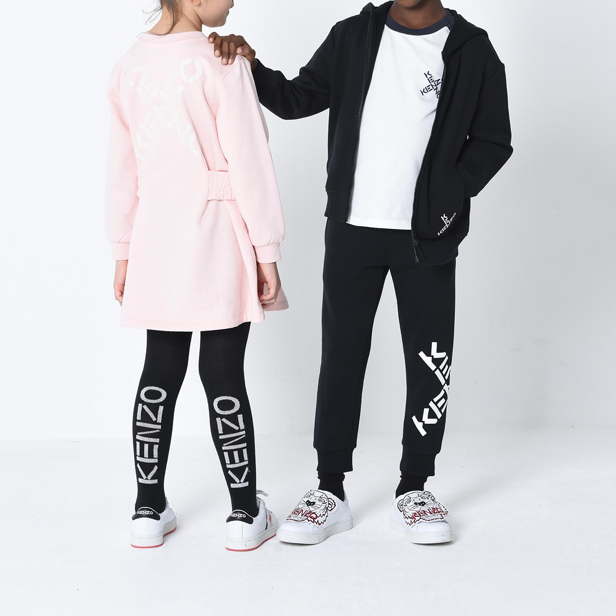 Fleece-hooded zip-up sweatshirt KENZO KIDS for GIRL