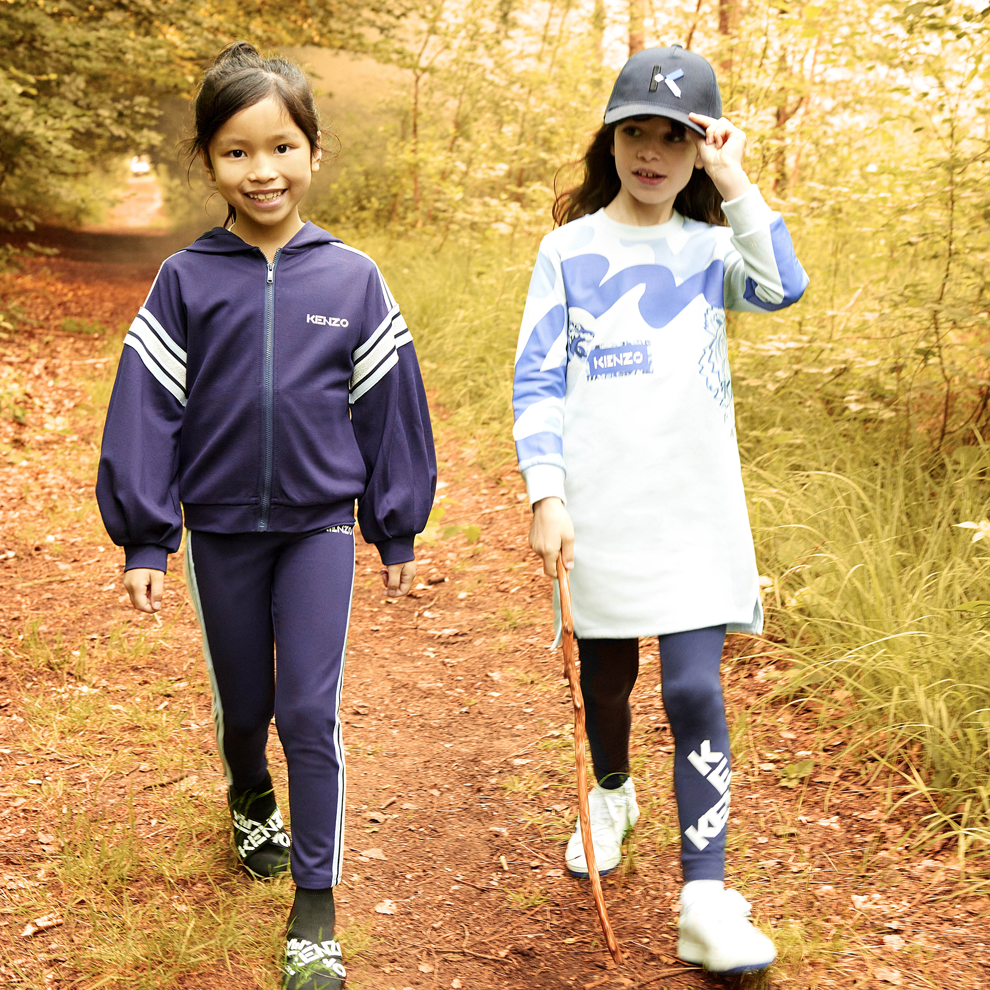 Milano-knit hooded sweatshirt KENZO KIDS for GIRL
