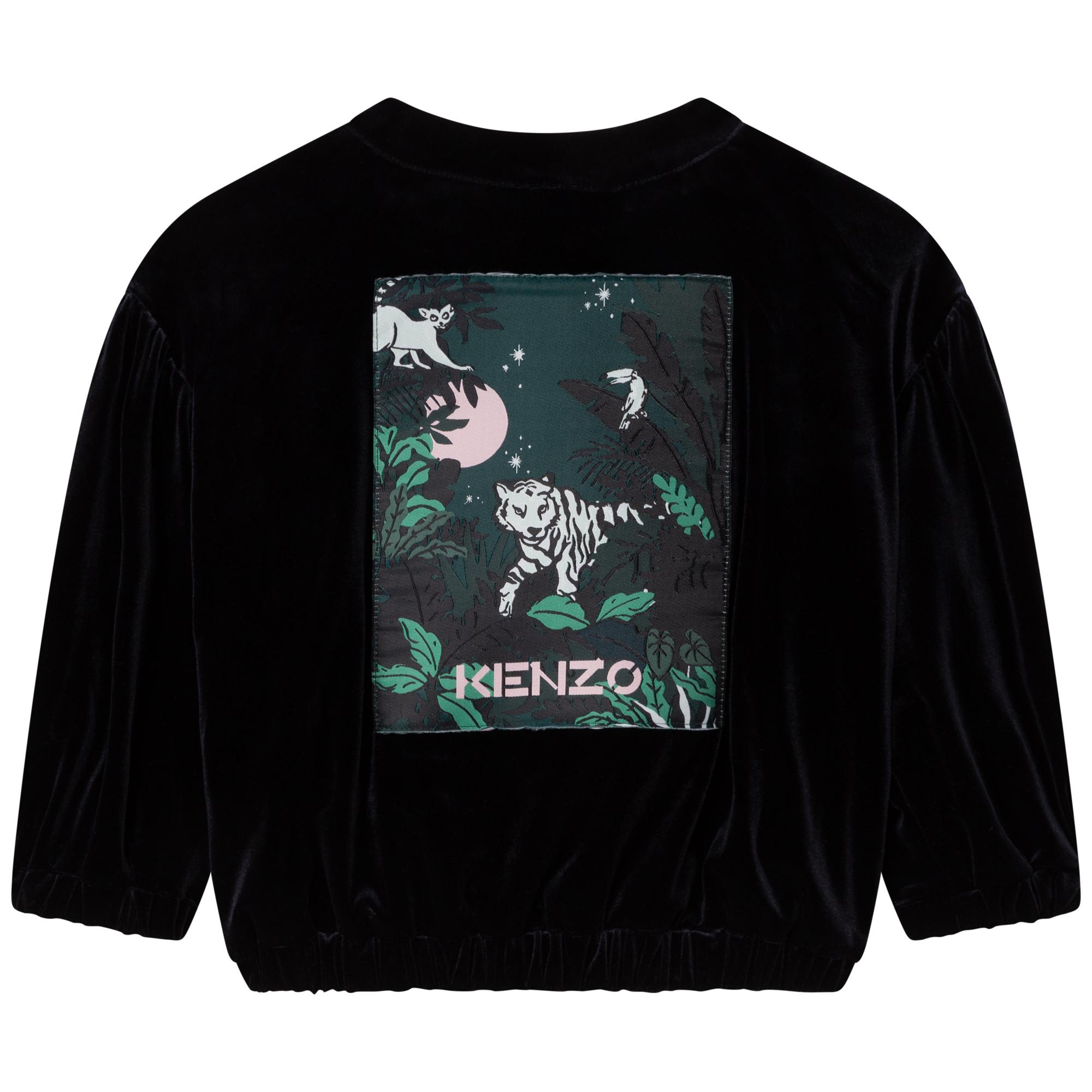 Velveteen bomber jacket KENZO KIDS for GIRL
