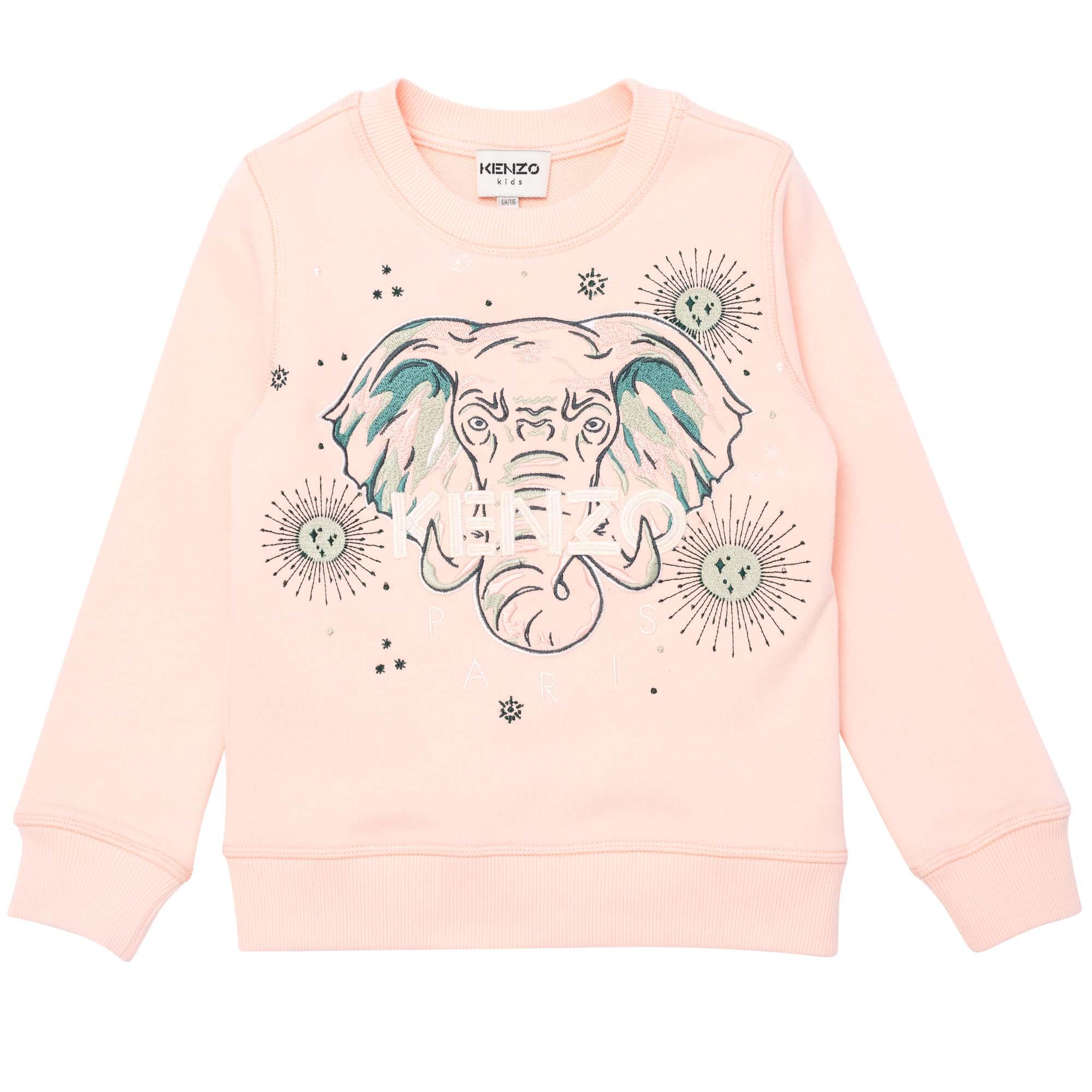 Printed fleece sweatshirt KENZO KIDS for GIRL