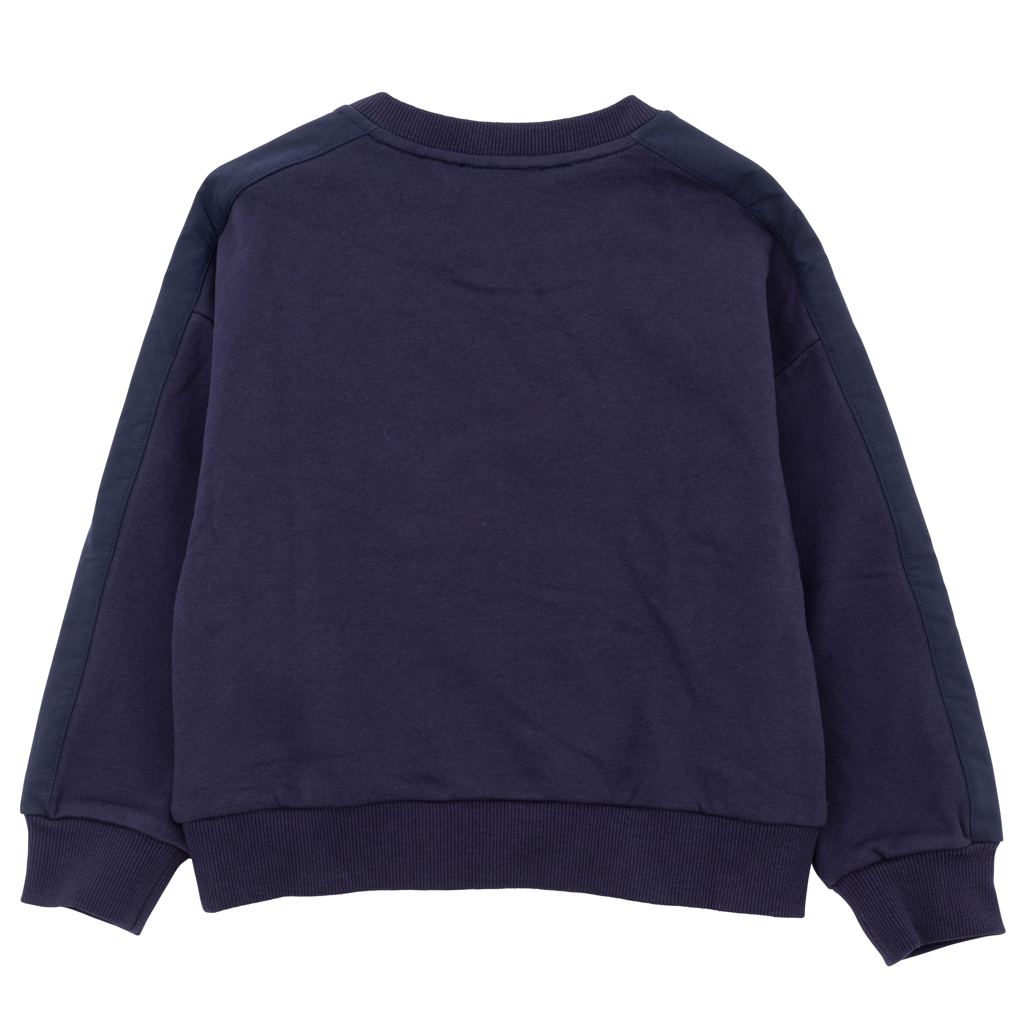 Plain dual-fabric sweatshirt KENZO KIDS for GIRL