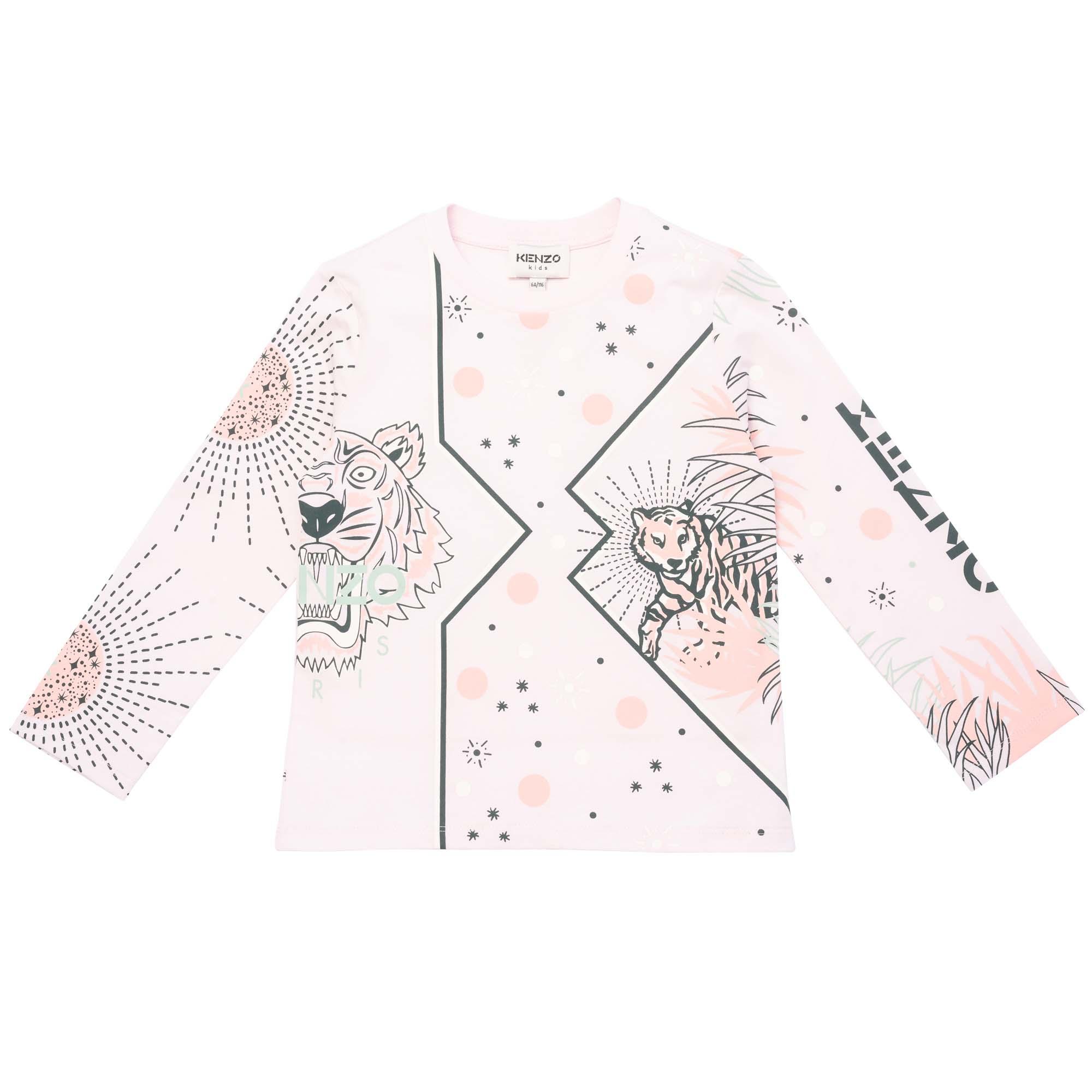 Long sleeved T-shirt KENZO KIDS for GIRL