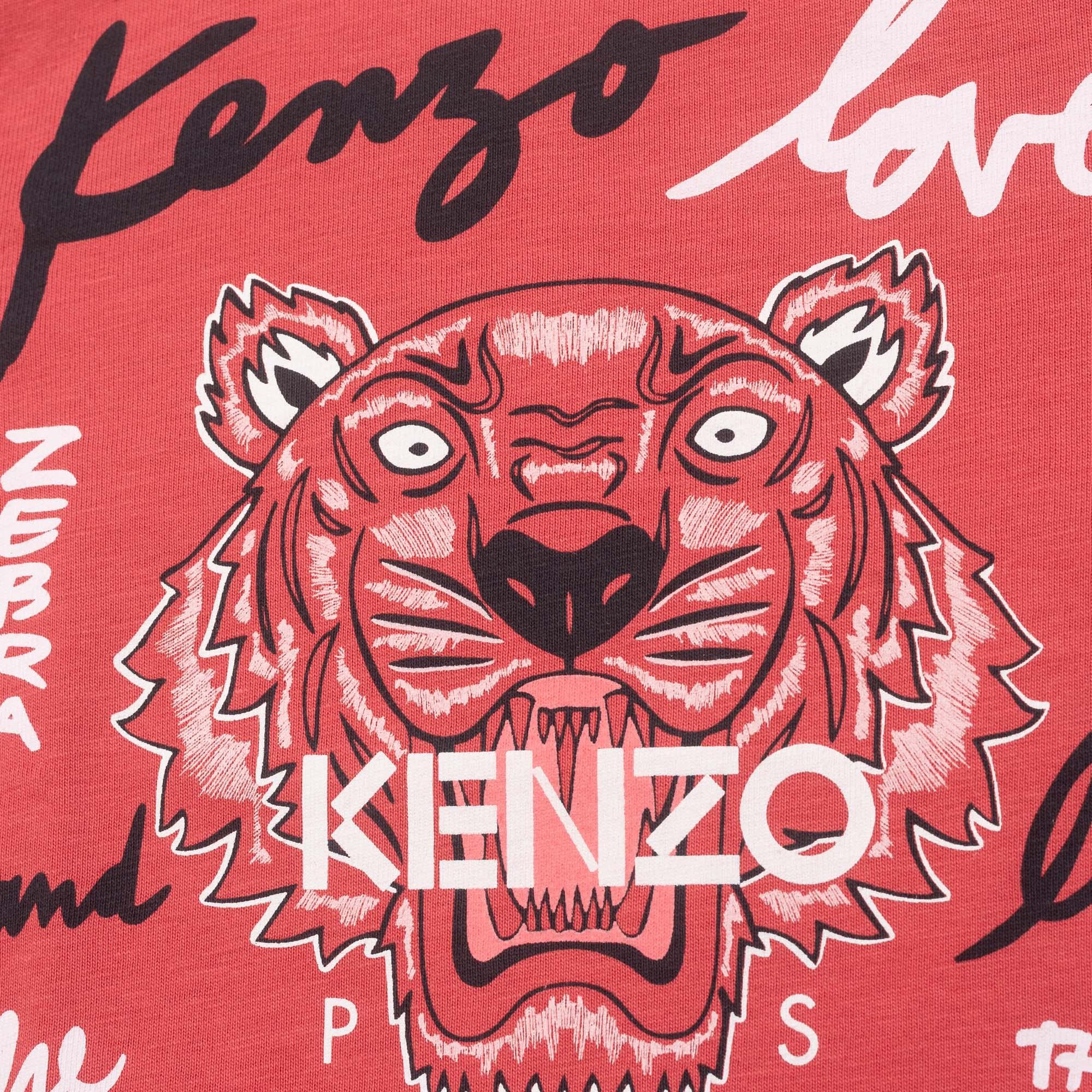 T-shirt à manches longues KENZO KIDS pour FILLE