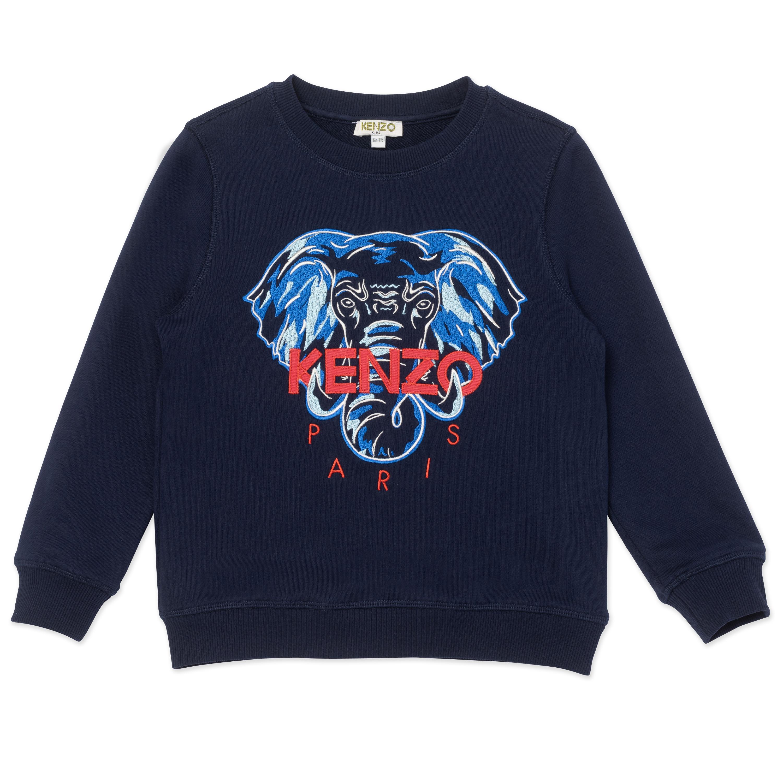 Sweatshirt avec éléphant brodé KENZO KIDS pour GARCON