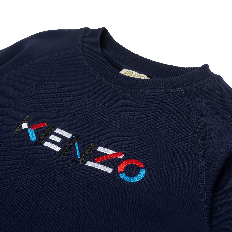 Sweatshirt à logo brodé KENZO KIDS pour GARCON